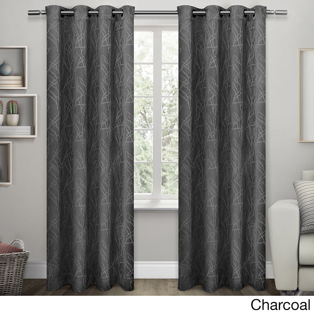Ati Home Twig Insulated Blackout Curtain Panel Pair With Grommet Top With Twig Insulated Blackout Curtain Panel Pairs With Grommet Top (View 2 of 30)