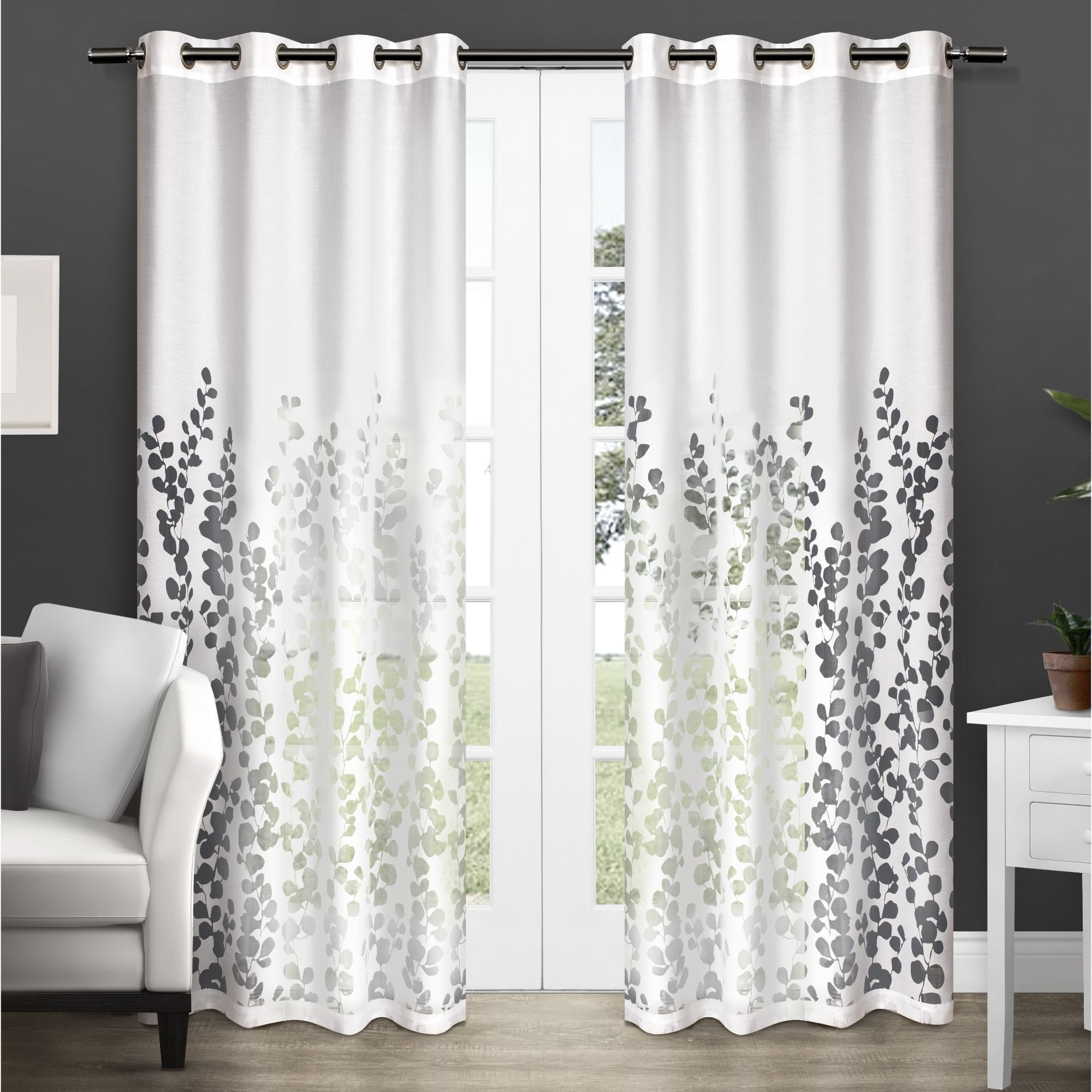 Featured Photo of Wilshire Burnout Grommet Top Curtain Panel Pairs