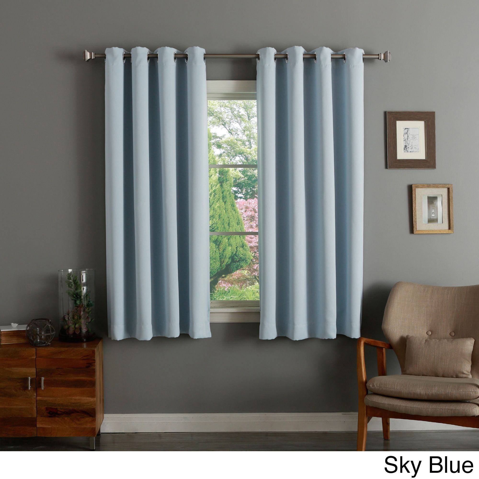 Aurora Home 52 Inch X 63 Inch Silvertone Grommet Top Thermal Pertaining To Silvertone Grommet Thermal Insulated Blackout Curtain Panel Pairs (View 3 of 30)