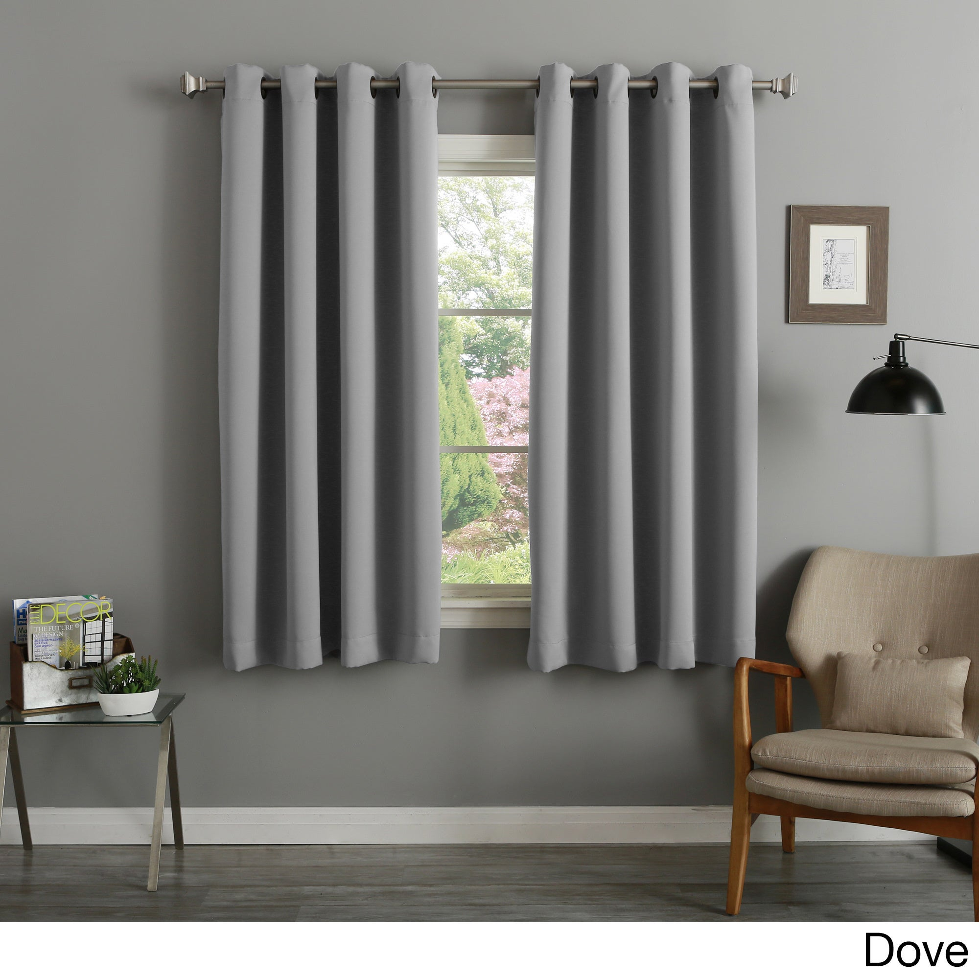 Aurora Home 54 Inch Thermal Insulated Blackout Curtain Panel Pair – 52 X 54 For Grommet Top Thermal Insulated Blackout Curtain Panel Pairs (View 8 of 20)