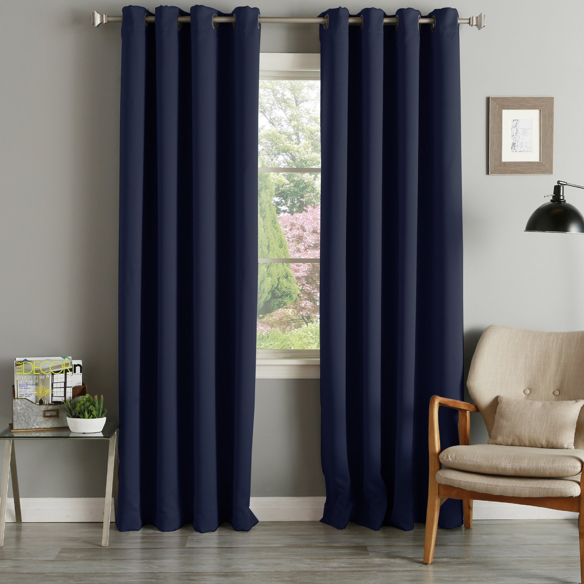 Aurora Home Grommet Top Thermal Insulated 96 Inch Blackout Curtain Panel Pair – 52 X 96 Intended For Grommet Top Thermal Insulated Blackout Curtain Panel Pairs (View 5 of 20)