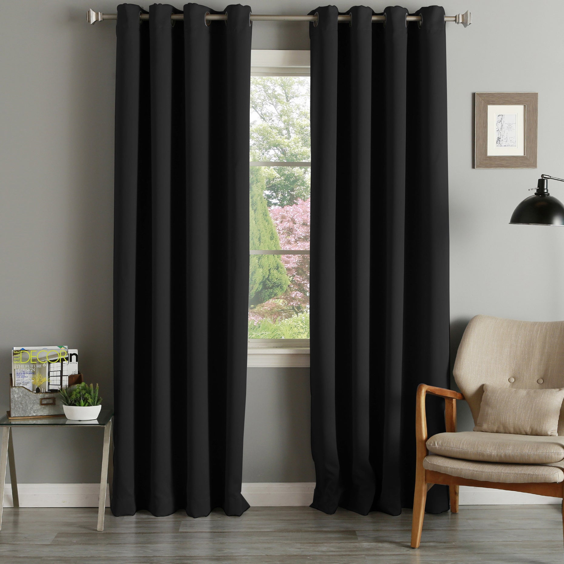 Aurora Home Grommet Top Thermal Insulated 96 Inch Blackout Curtain Panel Pair – 52 X 96 Intended For Thermal Insulated Blackout Curtain Panel Pairs (View 17 of 30)