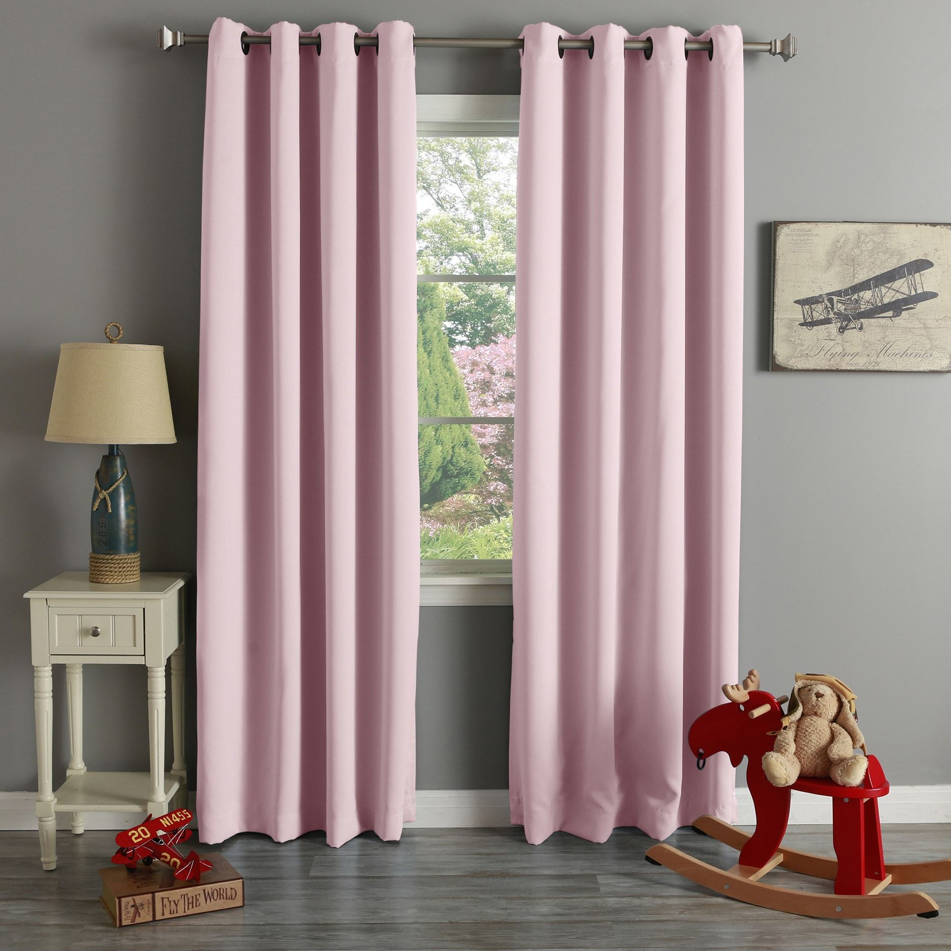 Aurora Home Grommet Top Thermal Insulated 96 Inch Blackout For Grommet Top Thermal Insulated Blackout Curtain Panel Pairs (View 18 of 20)