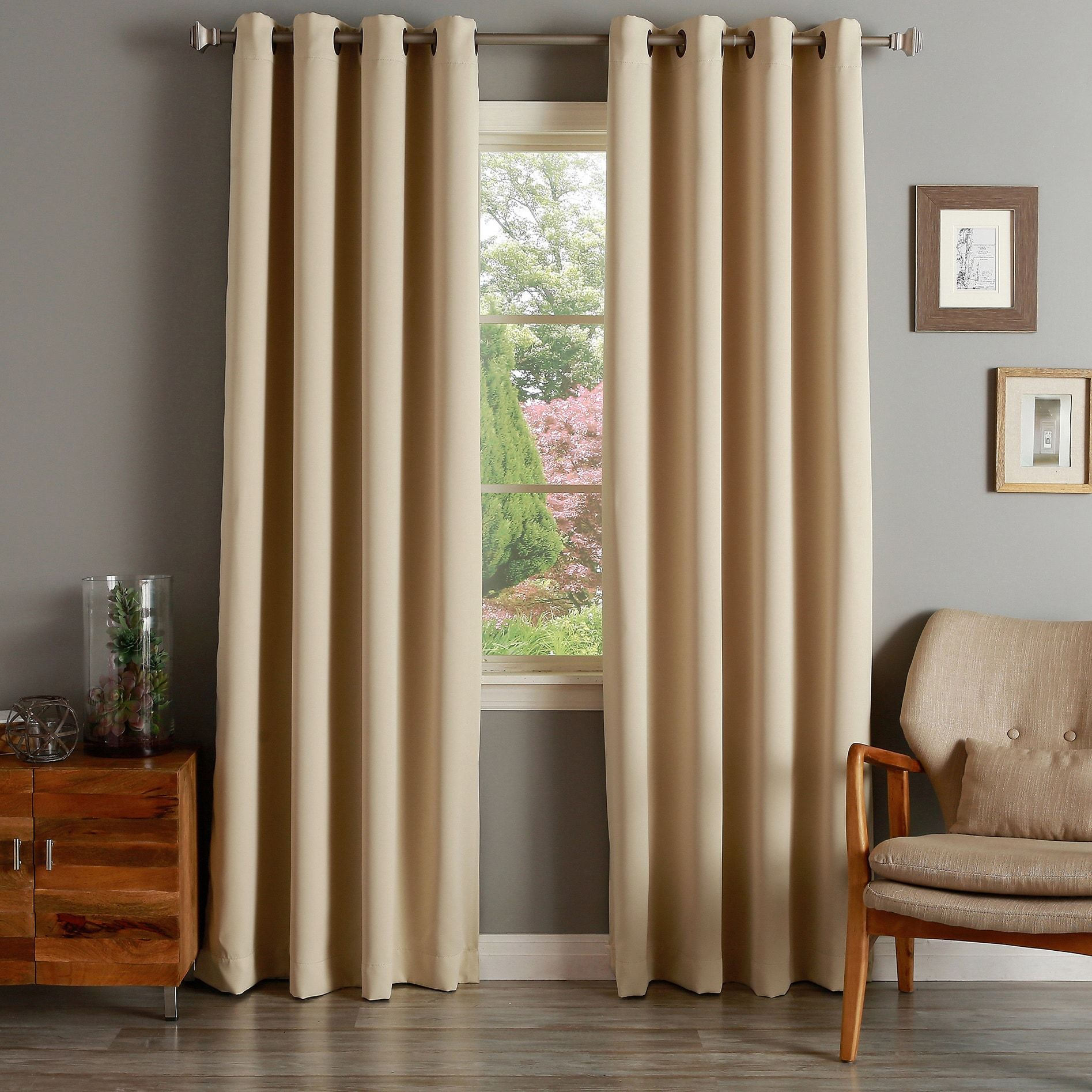 Aurora Home Grommet Top Thermal Insulated 96 Inch Blackout Inside Thermal Insulated Blackout Curtain Panel Pairs (View 10 of 30)
