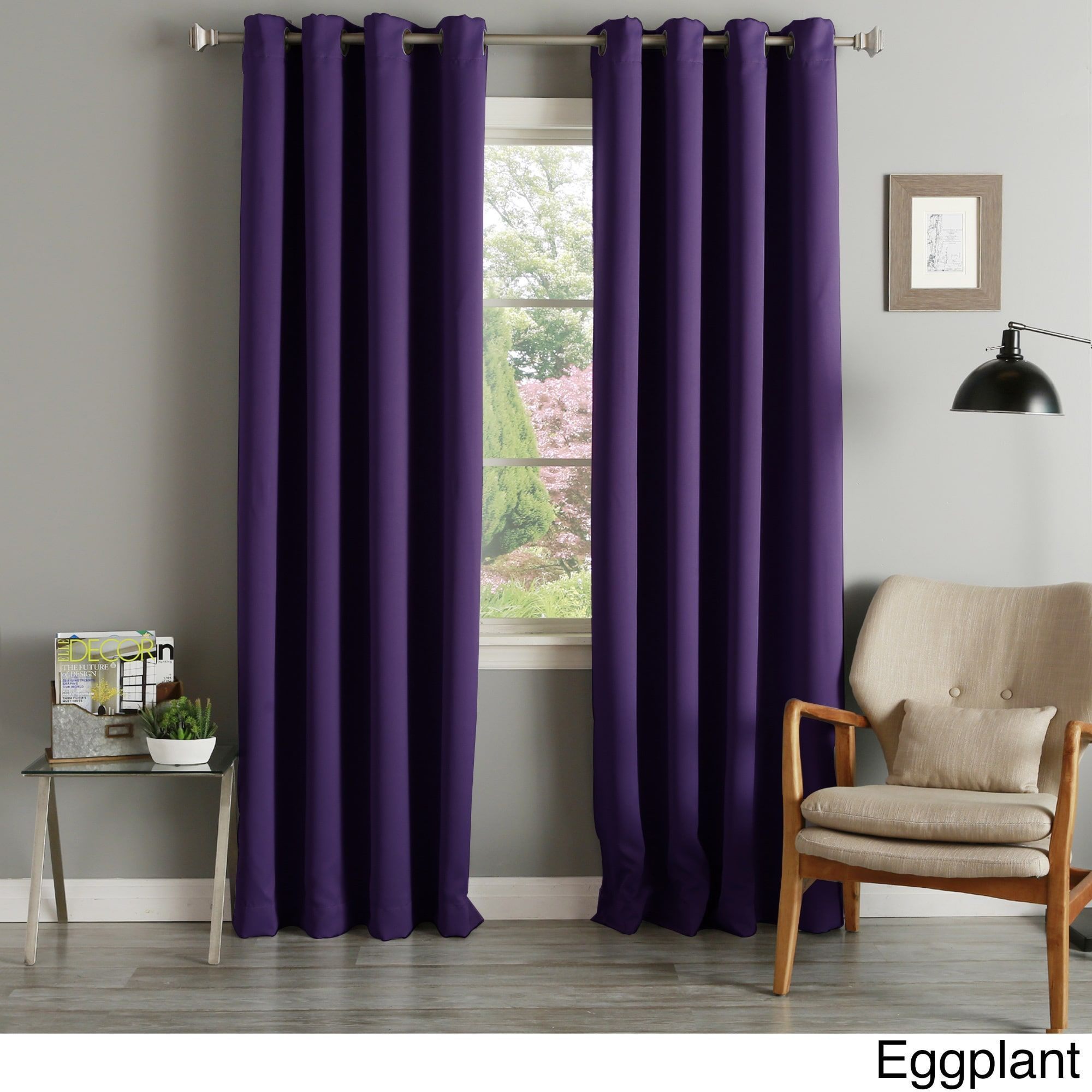 Aurora Home Grommet Top Thermal Insulated 96 Inch Blackout With Regard To Grommet Top Thermal Insulated Blackout Curtain Panel Pairs (View 12 of 20)