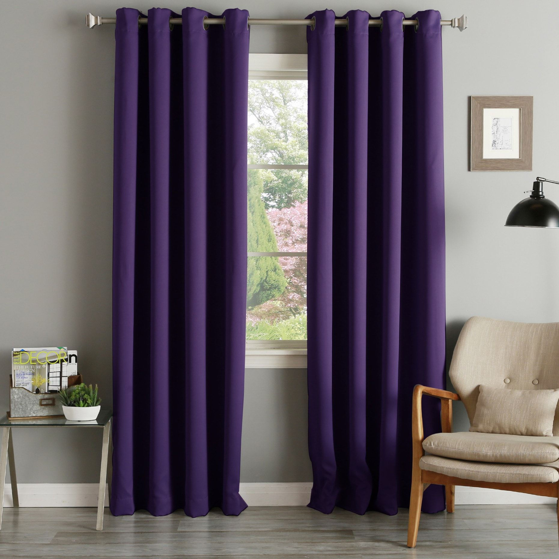 Aurora Home Grommet Top Thermal Insulated 96 Inch Blackout With Regard To Thermal Insulated Blackout Grommet Top Curtain Panel Pairs (View 13 of 30)