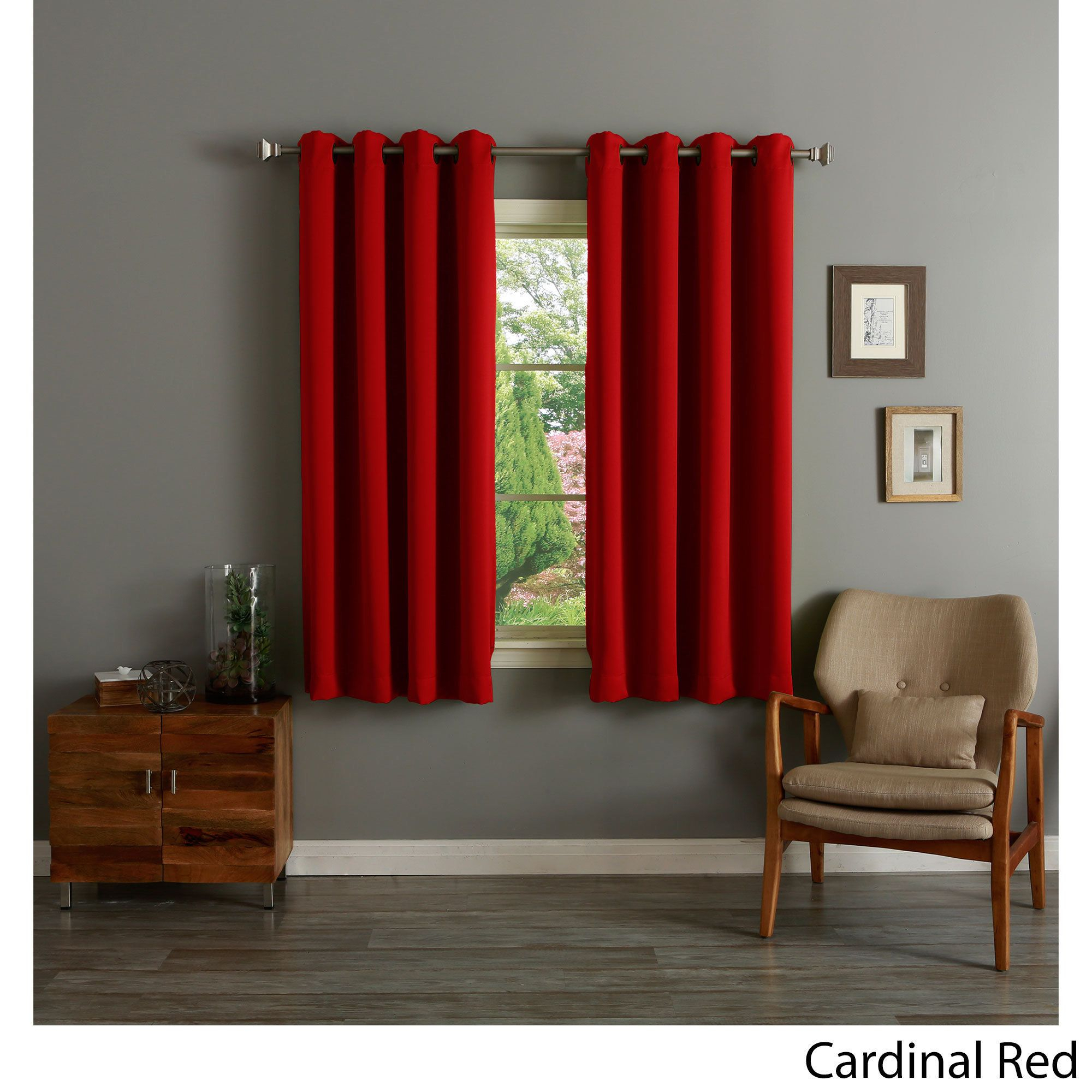 Aurora Home Grommet Top Thermal Insulated Blackout 64 Inch In Insulated Blackout Grommet Window Curtain Panel Pairs (View 1 of 20)