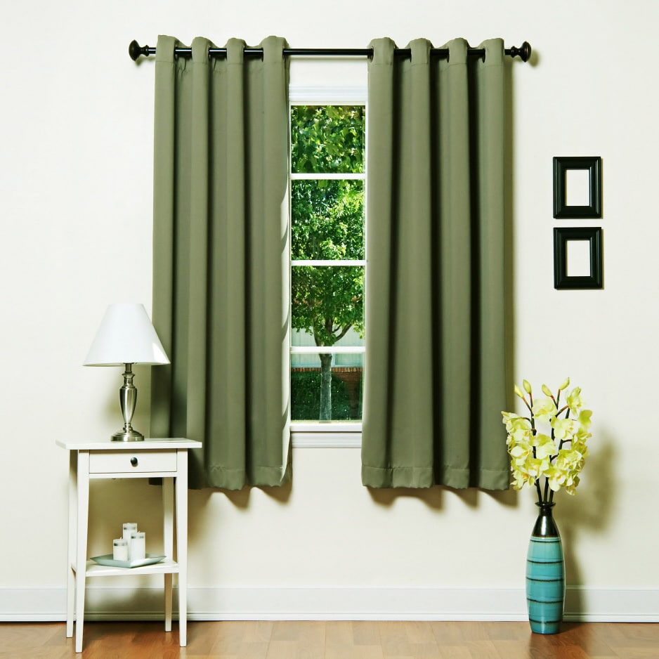 Aurora Home Grommet Top Thermal Insulated Blackout 64 Inch With Regard To Grommet Top Thermal Insulated Blackout Curtain Panel Pairs (View 16 of 20)