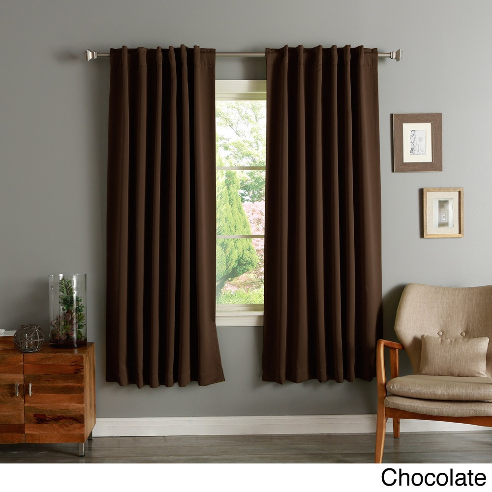 Aurora Home Insulated 72 Inch Thermal Blackout Curtain Panel Pair Within Insulated Thermal Blackout Curtain Panel Pairs (View 5 of 20)