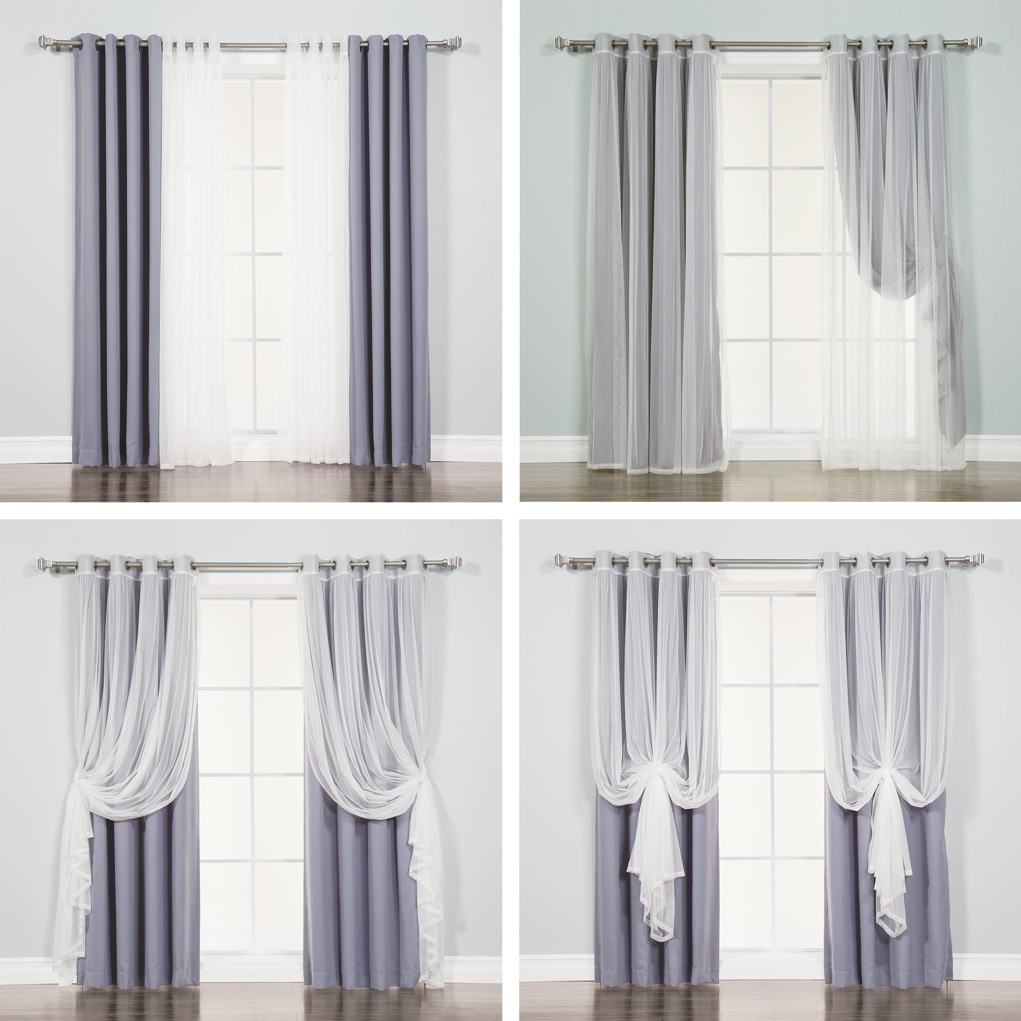 Aurora Home Mix And Match Blackout Blackout Curtains Panel Set (4 Piece) Intended For Mix And Match Blackout Blackout Curtains Panel Sets (View 20 of 20)