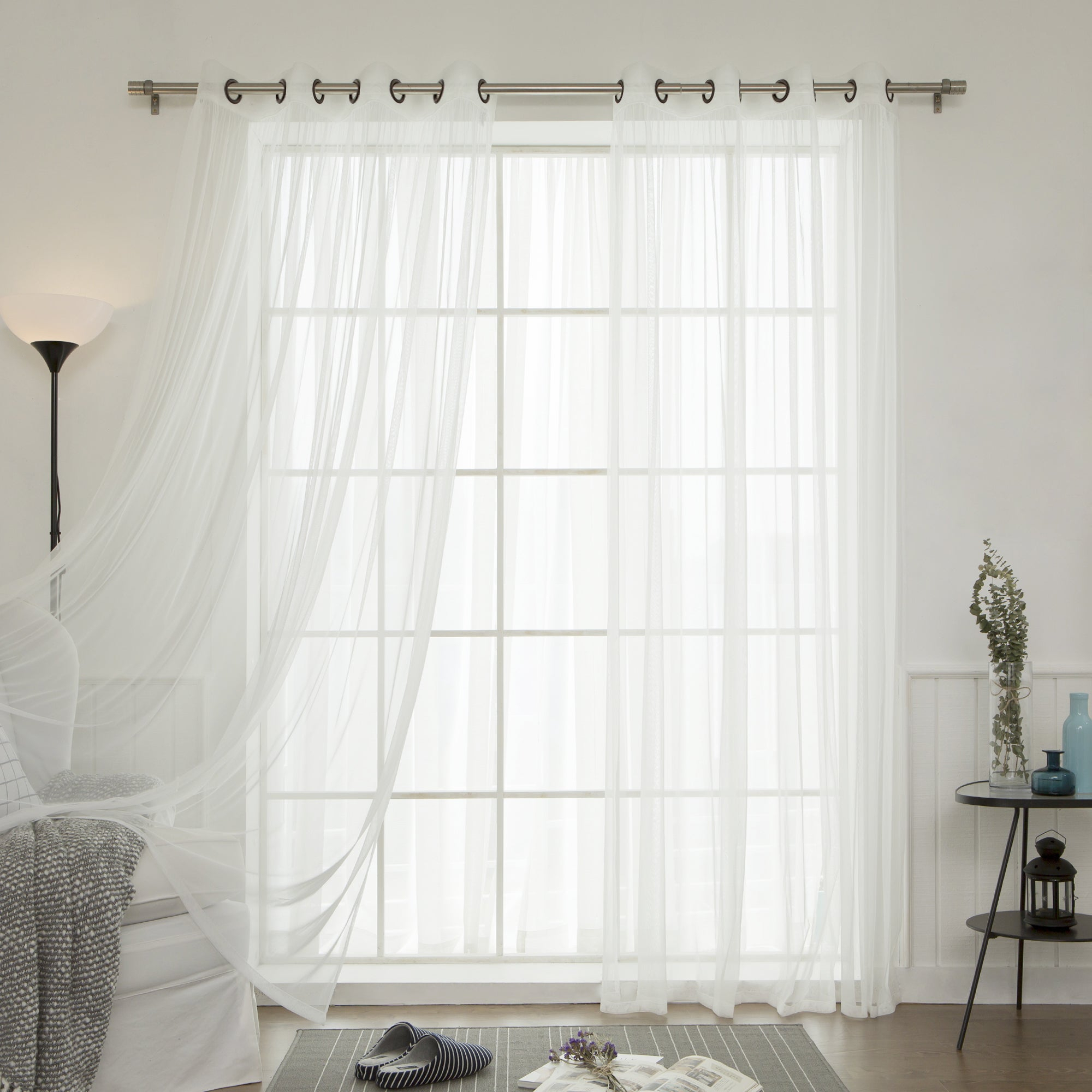 Aurora Home Mix And Match Blackout Blackout Curtains Panel Set (4 Piece) With Mix And Match Blackout Blackout Curtains Panel Sets (View 12 of 20)
