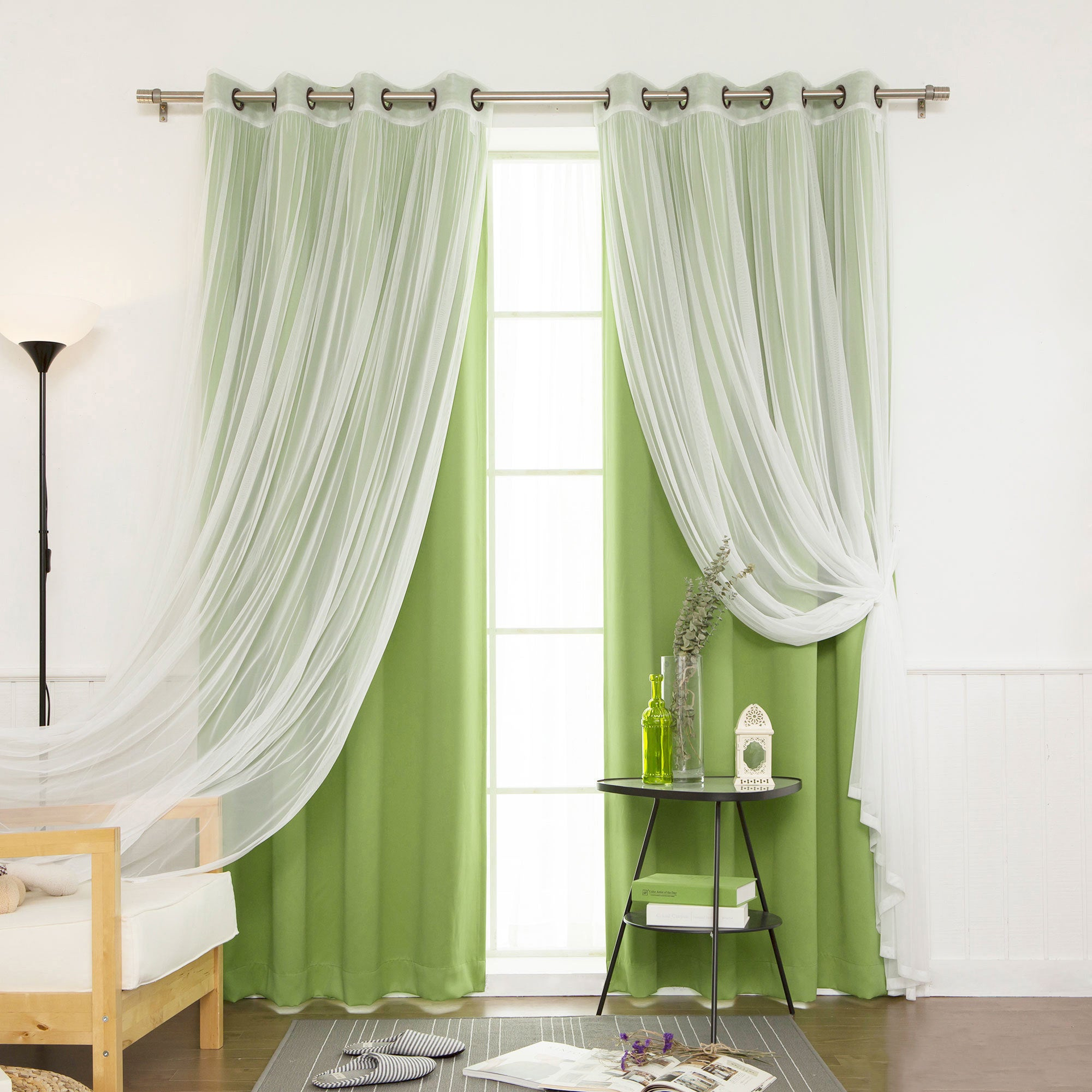 Aurora Home Mix And Match Blackout Blackout Curtains Panel Set (4 Piece) With Mix And Match Blackout Blackout Curtains Panel Sets (View 4 of 20)