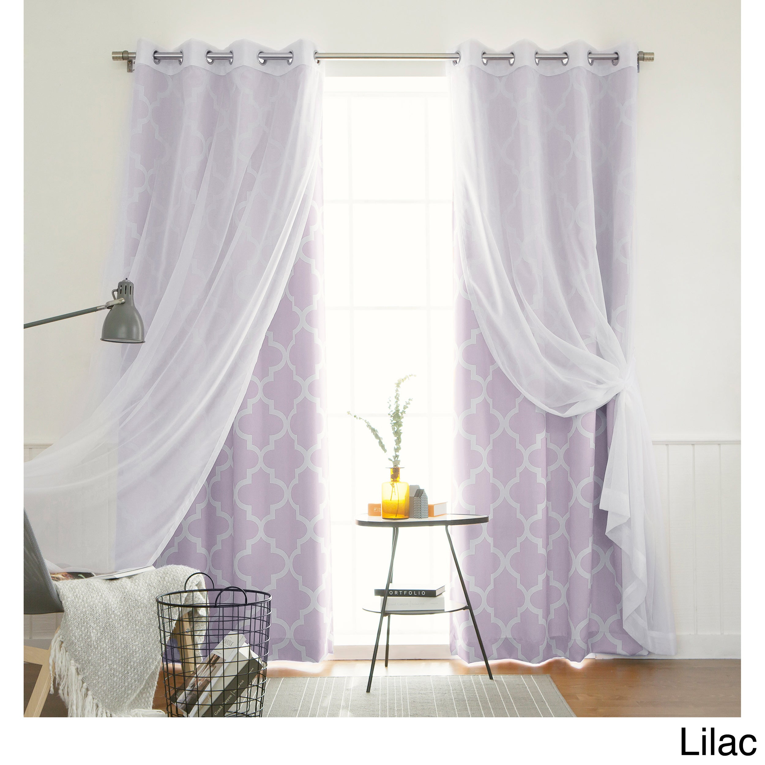"Aurora Home Mix & Match Moroccan Room Darkening 4 Piece Curtain Panel Set – 52""w X 84""l Pertaining To Elrene Aurora Kids Room Darkening Layered Sheer Curtains (View 9 of 20)"