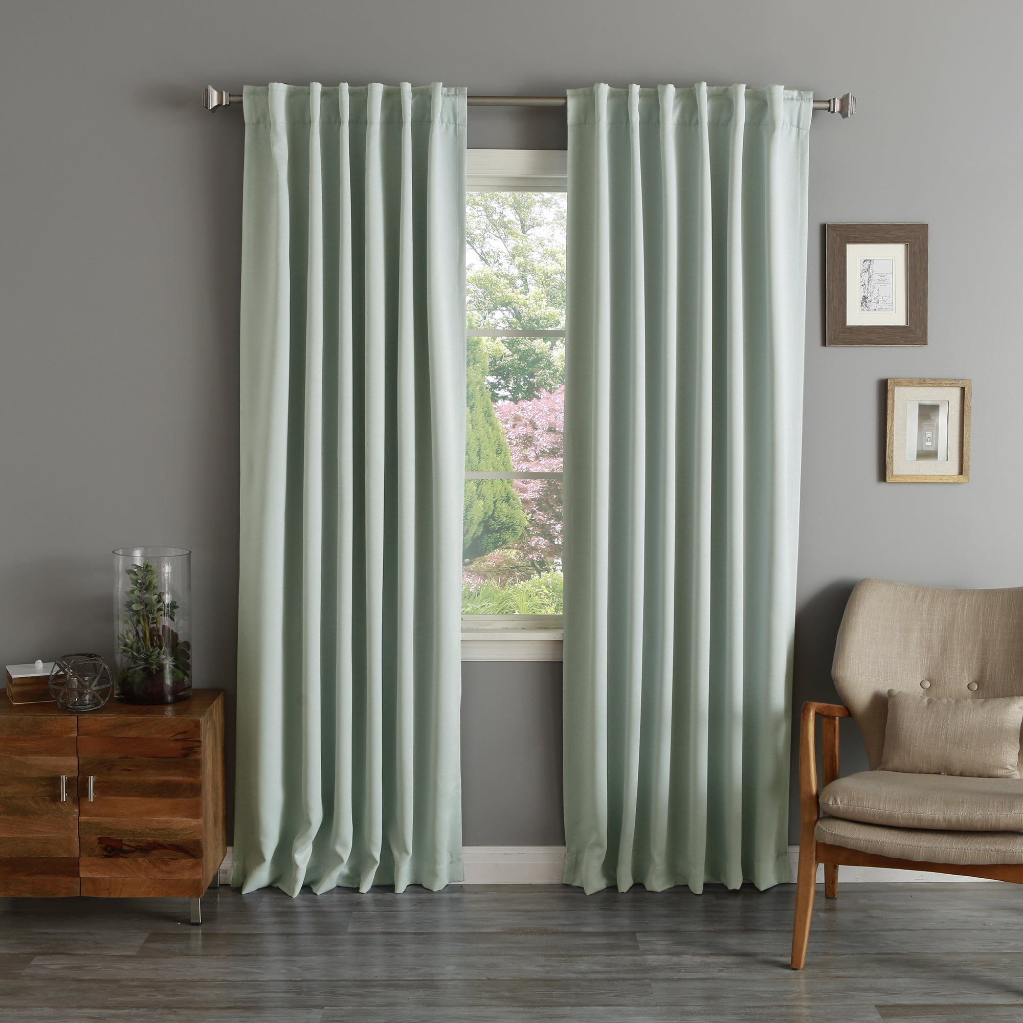 Aurora Home Rod Pocket Blackout Curtain Panel (pair) Intended For Thermal Rod Pocket Blackout Curtain Panel Pairs (View 14 of 30)