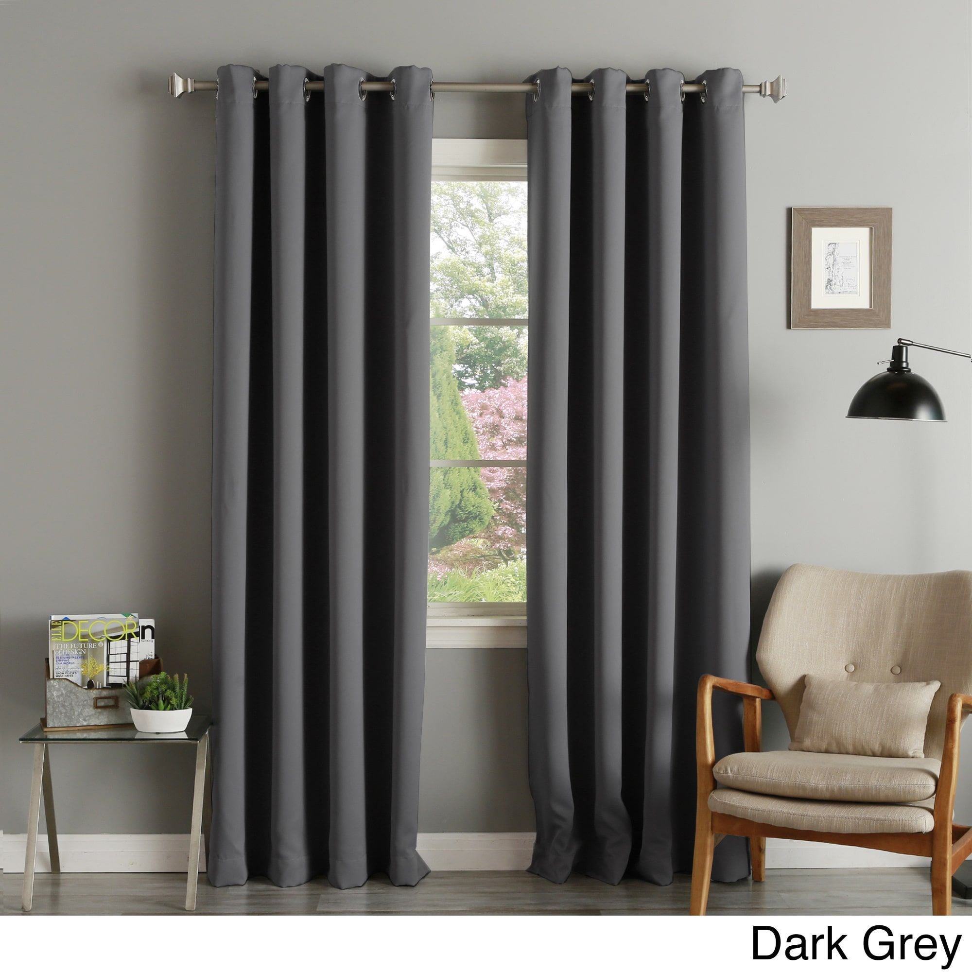 Aurora Home Silver Grommet Top Thermal Insulated 108 Inch Within Solid Insulated Thermal Blackout Curtain Panel Pairs (View 22 of 30)