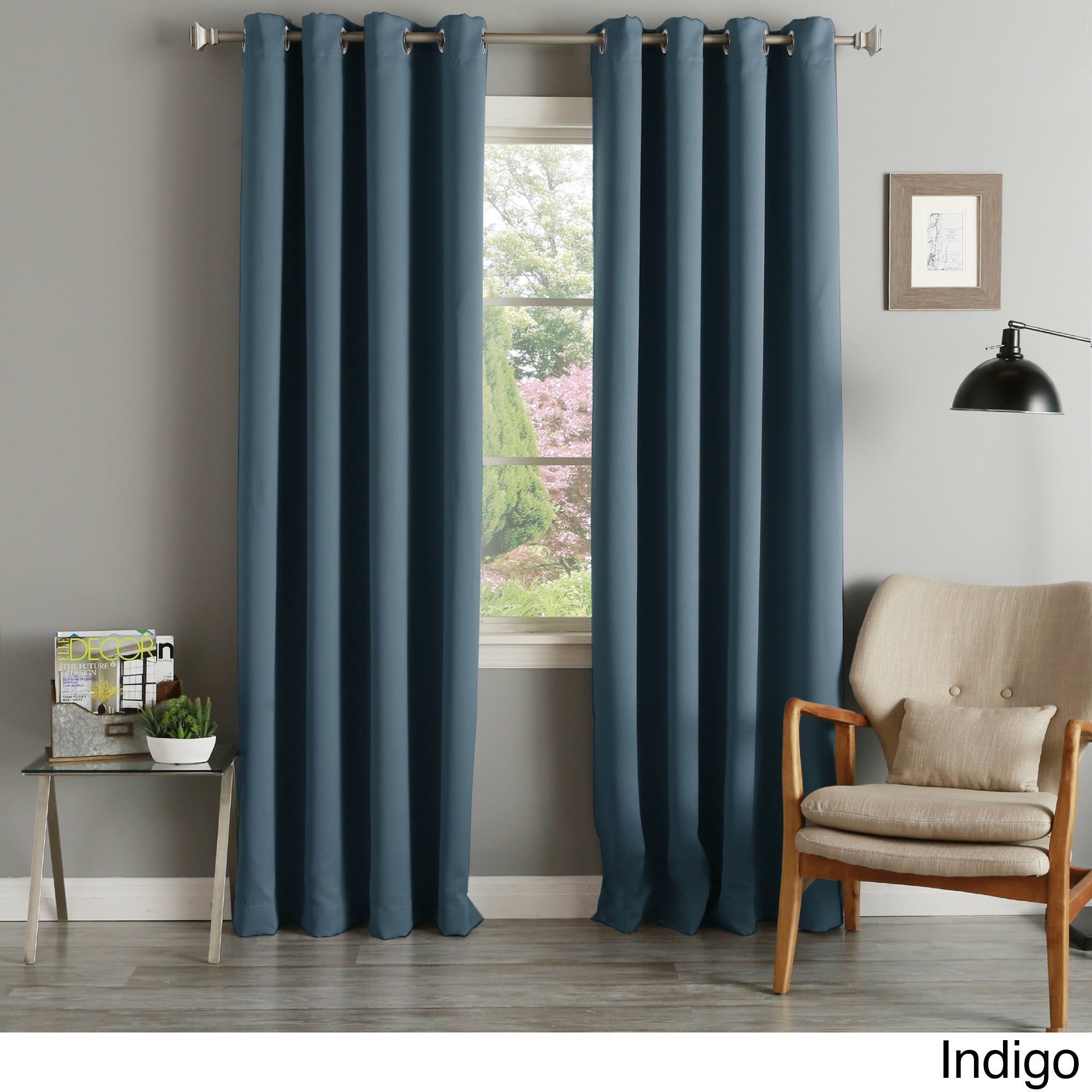 Aurora Home Silvertone Grommet Thermal Insulated Blackout Curtain Panel Pair Intended For Thermal Insulated Blackout Curtain Panel Pairs (View 4 of 30)