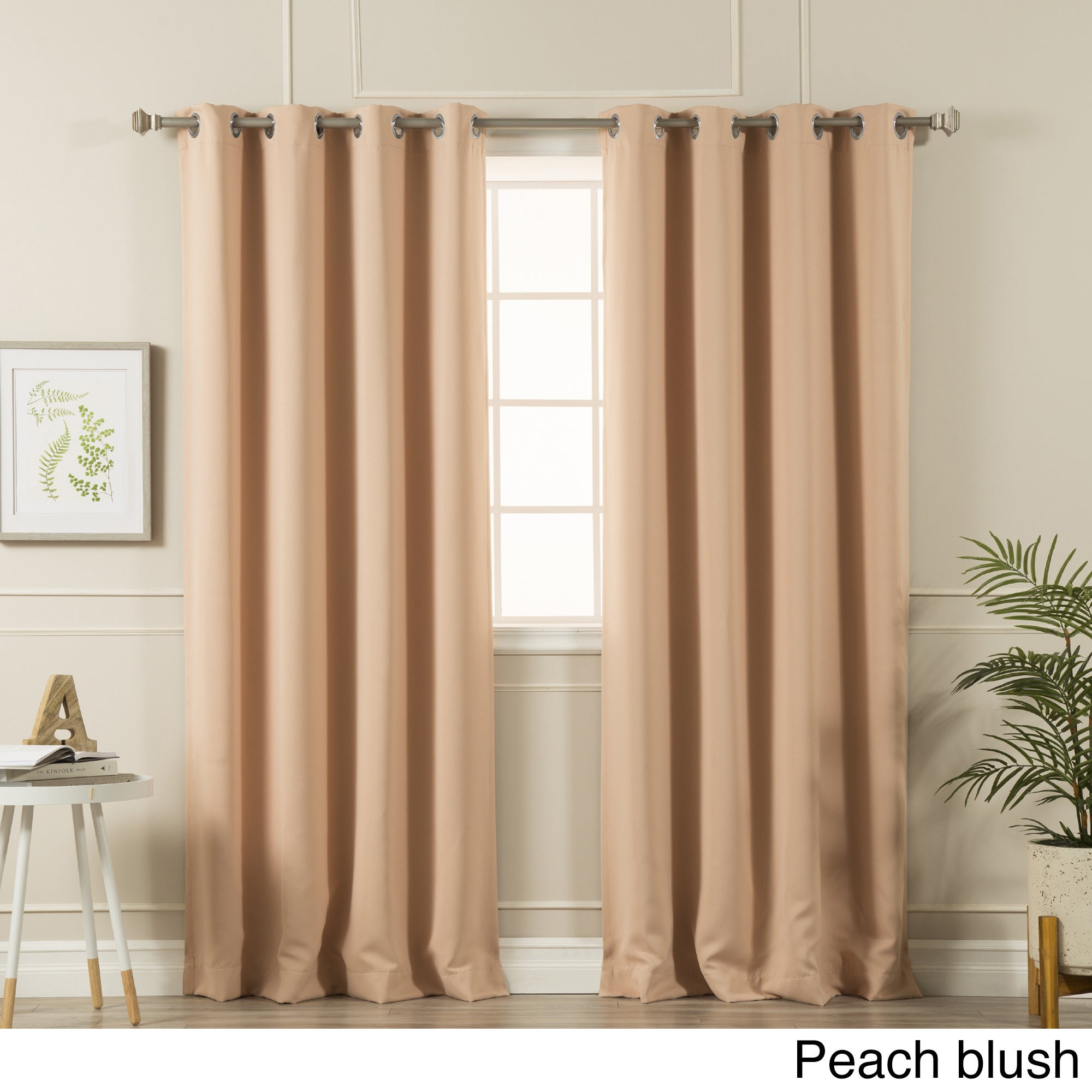 Aurora Home Silvertone Grommet Top Thermal Insulated Blackout Curtain Panel Pair For Silvertone Grommet Thermal Insulated Blackout Curtain Panel Pairs (View 3 of 30)