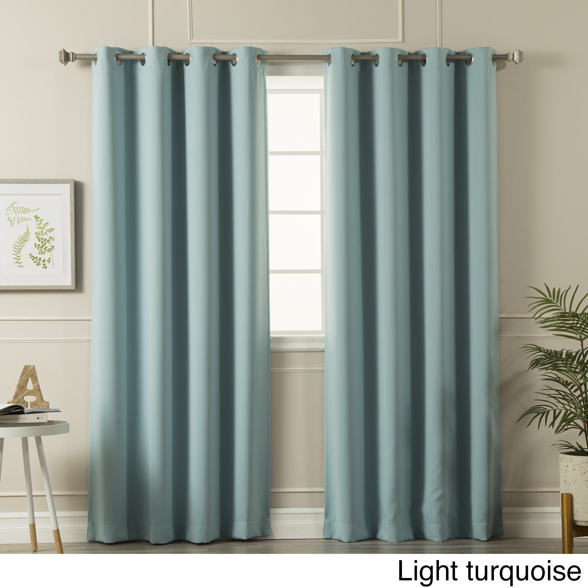 Aurora Home Silvertone Grommet Top Thermal Insulated Blackout Curtain Panel Pair In Antique Silver Grommet Top Thermal Insulated Blackout Curtain Panel Pairs (View 3 of 20)