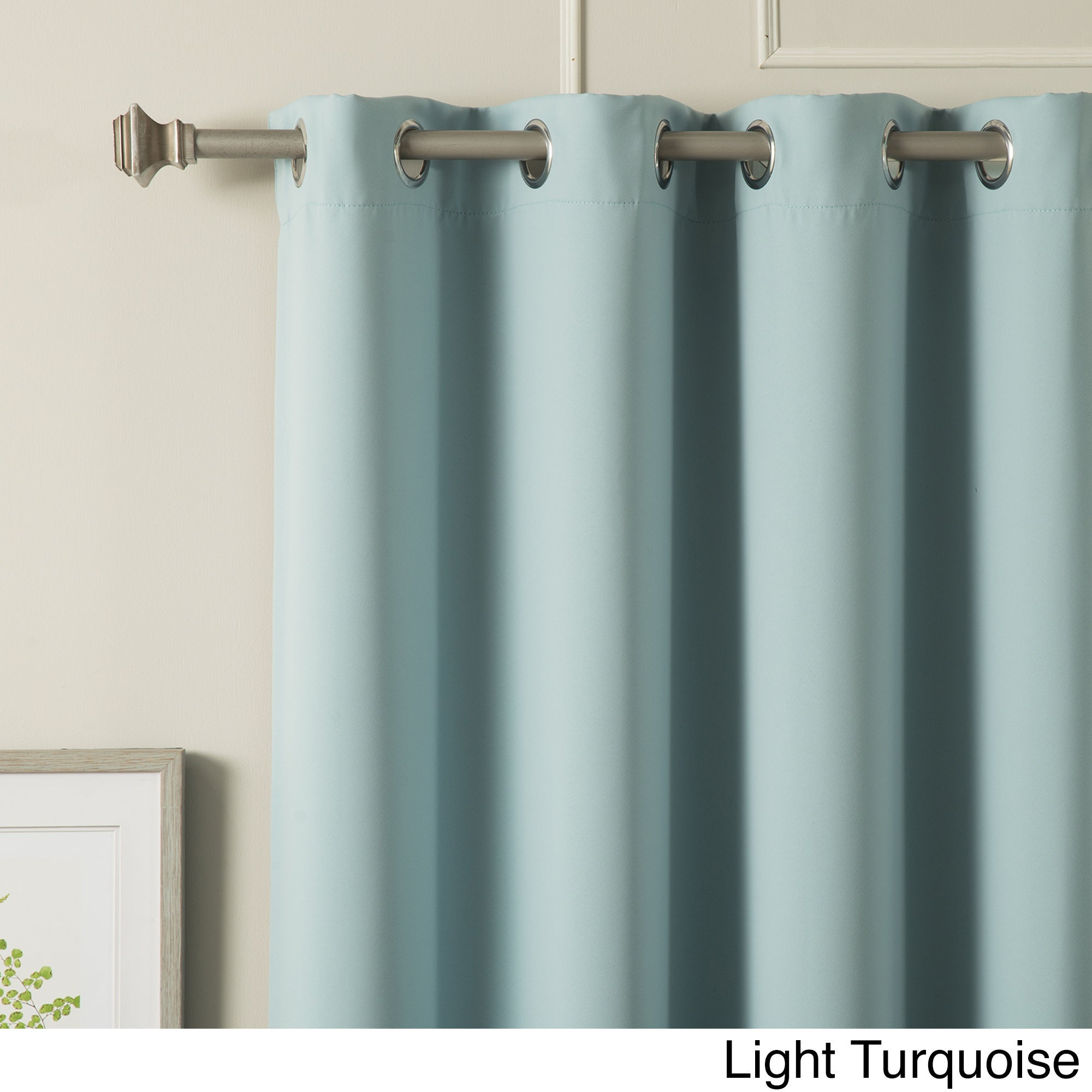 Aurora Home Silvertone Grommet Top Thermal Insulated Blackout Curtain Panel Pair Regarding Silvertone Grommet Thermal Insulated Blackout Curtain Panel Pairs (View 12 of 30)