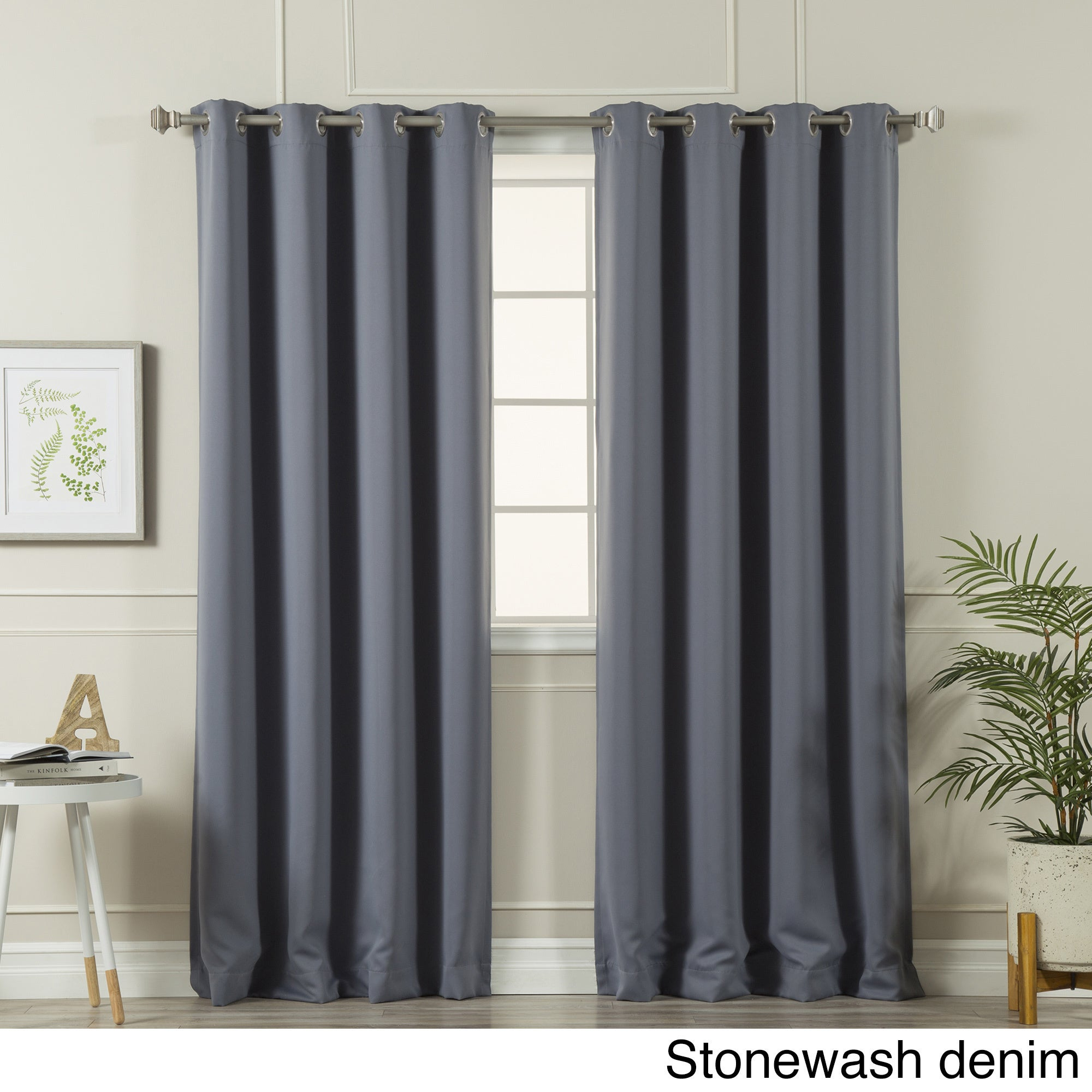 Aurora Home Silvertone Grommet Top Thermal Insulated Blackout Curtain Panel Pair Within Silvertone Grommet Thermal Insulated Blackout Curtain Panel Pairs (View 13 of 30)