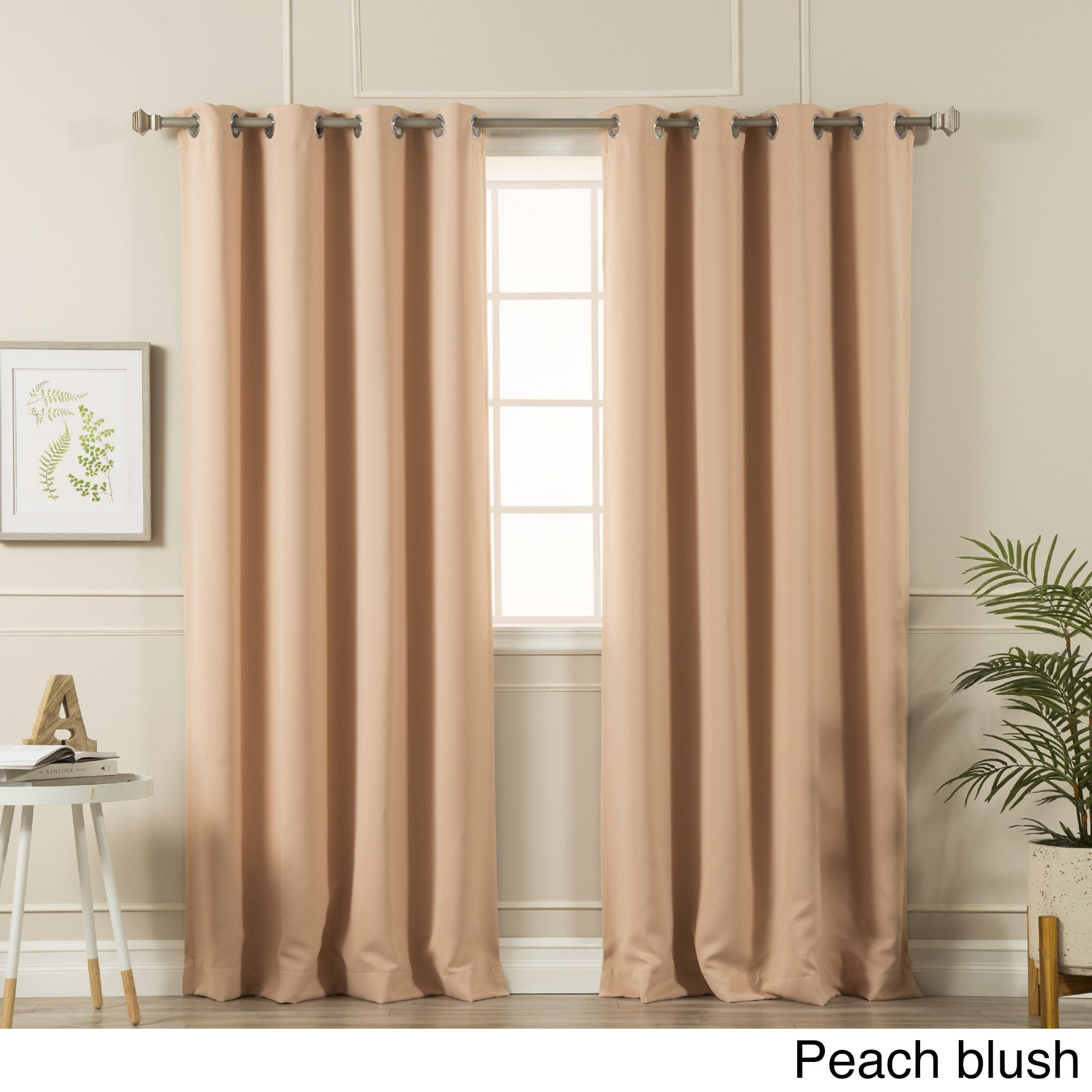 Aurora Home Silvertone Grommet Top Thermal Insulated Pertaining To Thermal Insulated Blackout Grommet Top Curtain Panel Pairs (View 8 of 30)