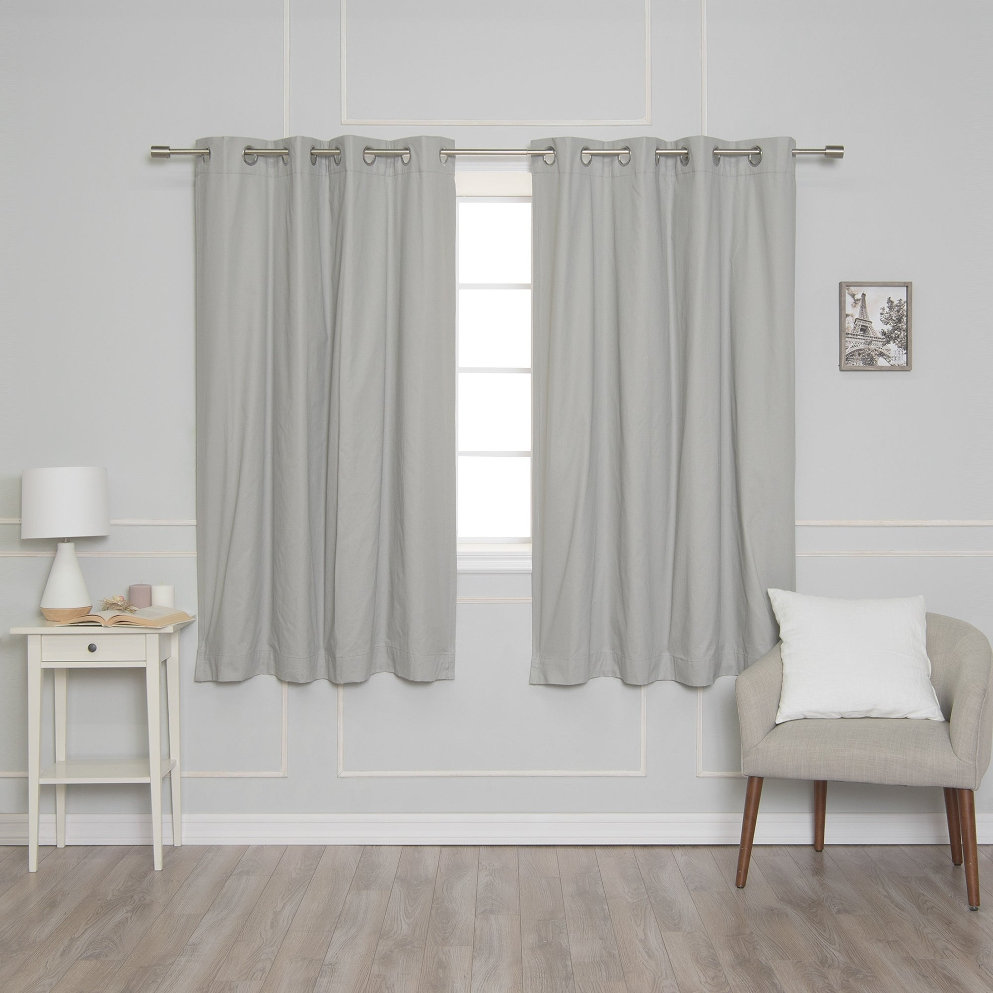 Aurora Home Solid Cotton Blackout Curtain With Solid Cotton True Blackout Curtain Panels (View 16 of 30)