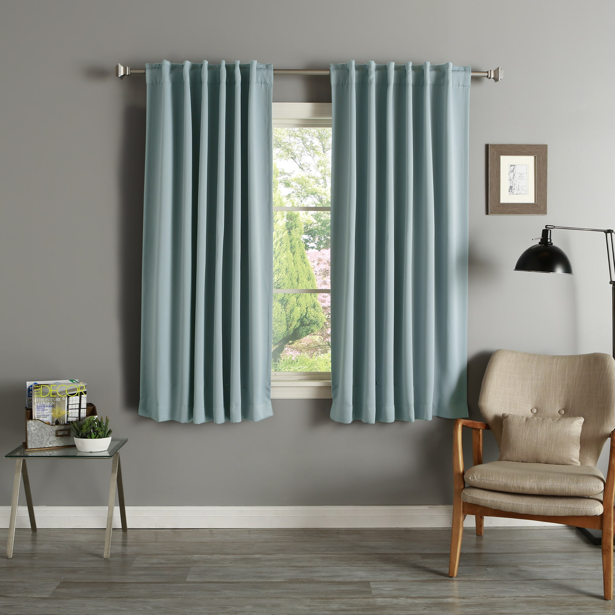 Aurora Home Solid Insulated Thermal 63 Inch Blackout Curtain Intended For Solid Insulated Thermal Blackout Curtain Panel Pairs (View 9 of 30)