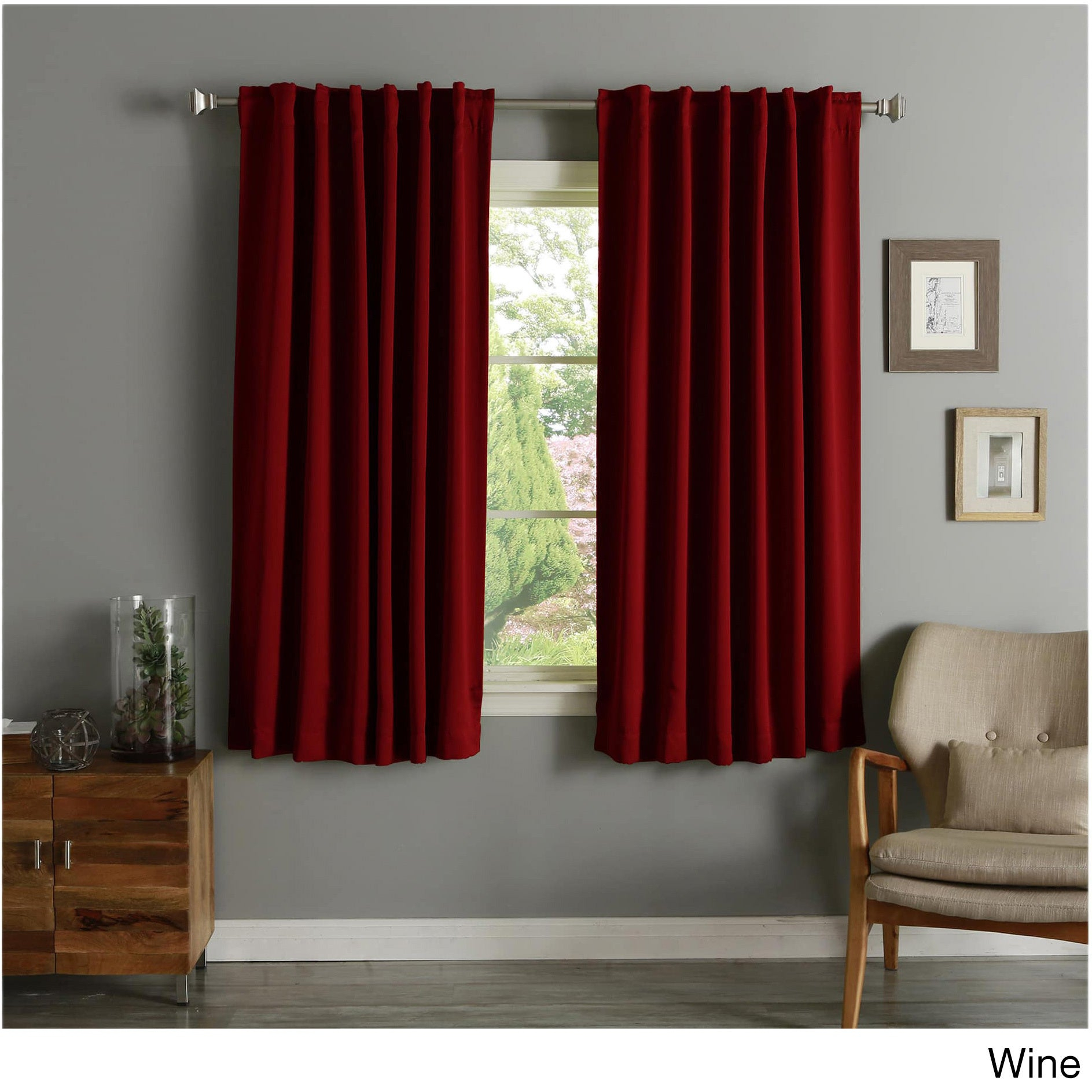 Aurora Home Solid Insulated Thermal 63 Inch Blackout Curtain Panel Pair Regarding Curtain Panel Pairs (View 4 of 20)