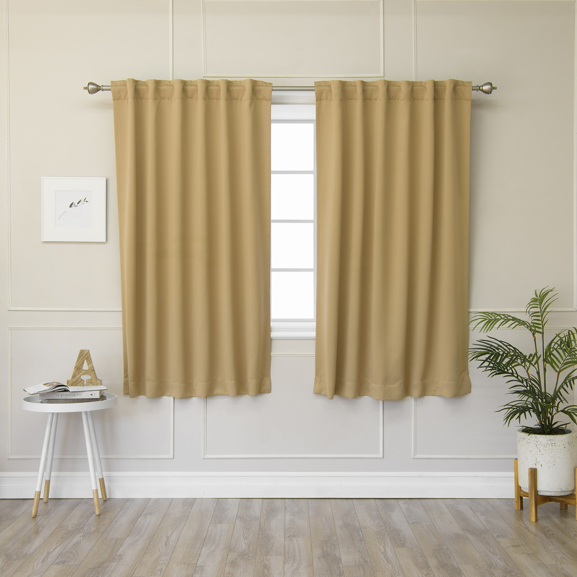 Aurora Home Solid Insulated Thermal 63 Inch Blackout Curtain Regarding Solid Insulated Thermal Blackout Curtain Panel Pairs (View 6 of 30)