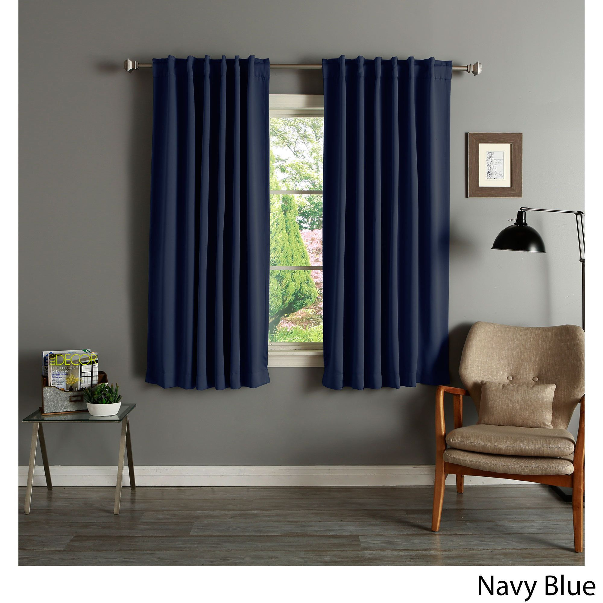 Aurora Home Solid Insulated Thermal 63 Inch Blackout Curtain With Regard To Superior Solid Insulated Thermal Blackout Grommet Curtain Panel Pairs (View 21 of 30)