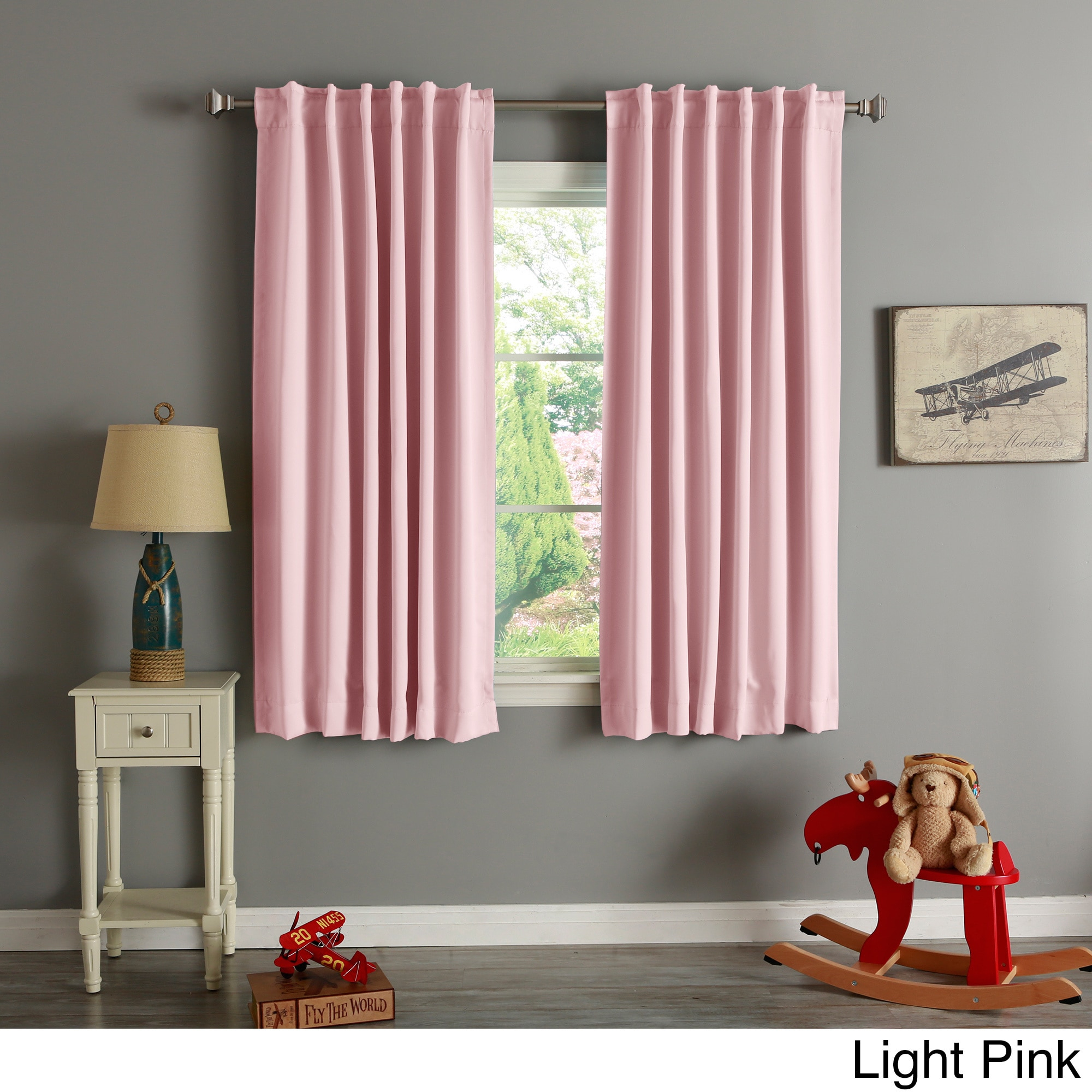 Aurora Home Solid Insulated Thermal Blackout 63 Inch Curtain With Solid Insulated Thermal Blackout Curtain Panel Pairs (View 10 of 30)