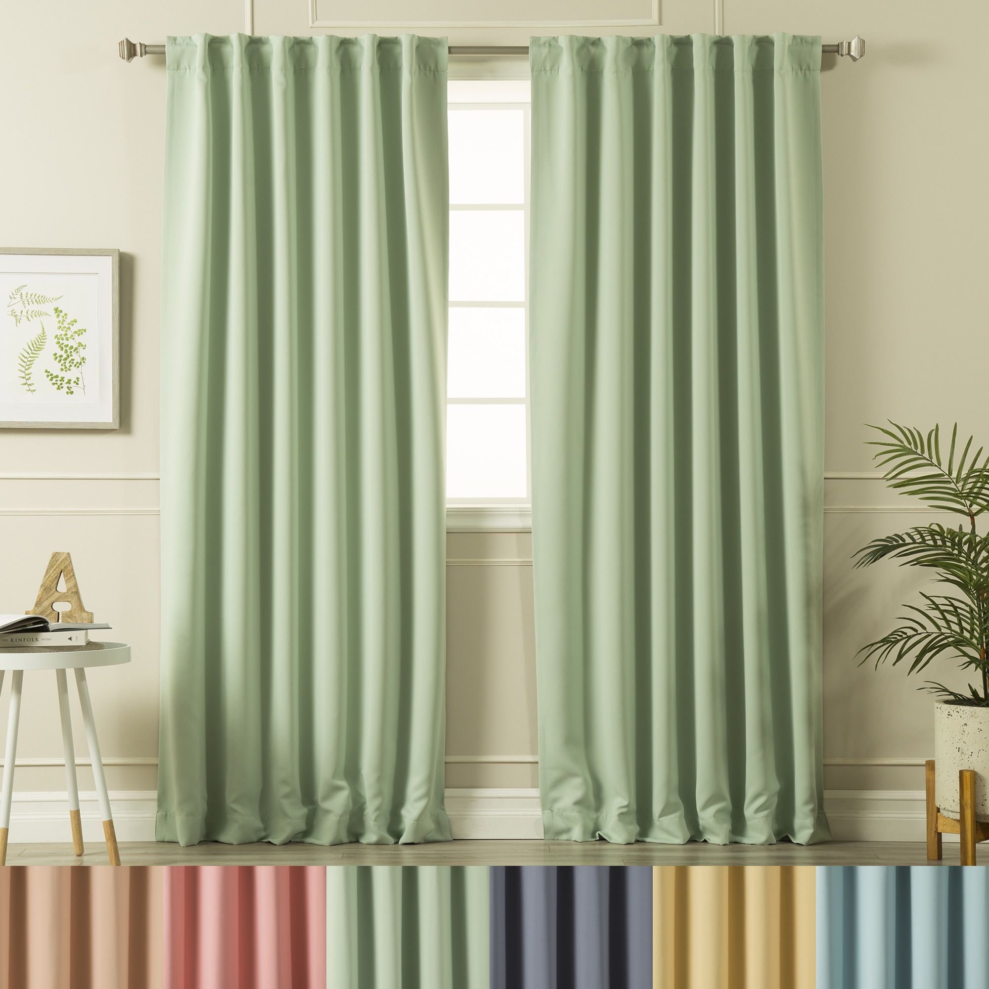 Aurora Home Solid Insulated Thermal Blackout Curtain Panel With Regard To Gracewood Hollow Tucakovic Energy Efficient Fabric Blackout Curtains (View 8 of 20)
