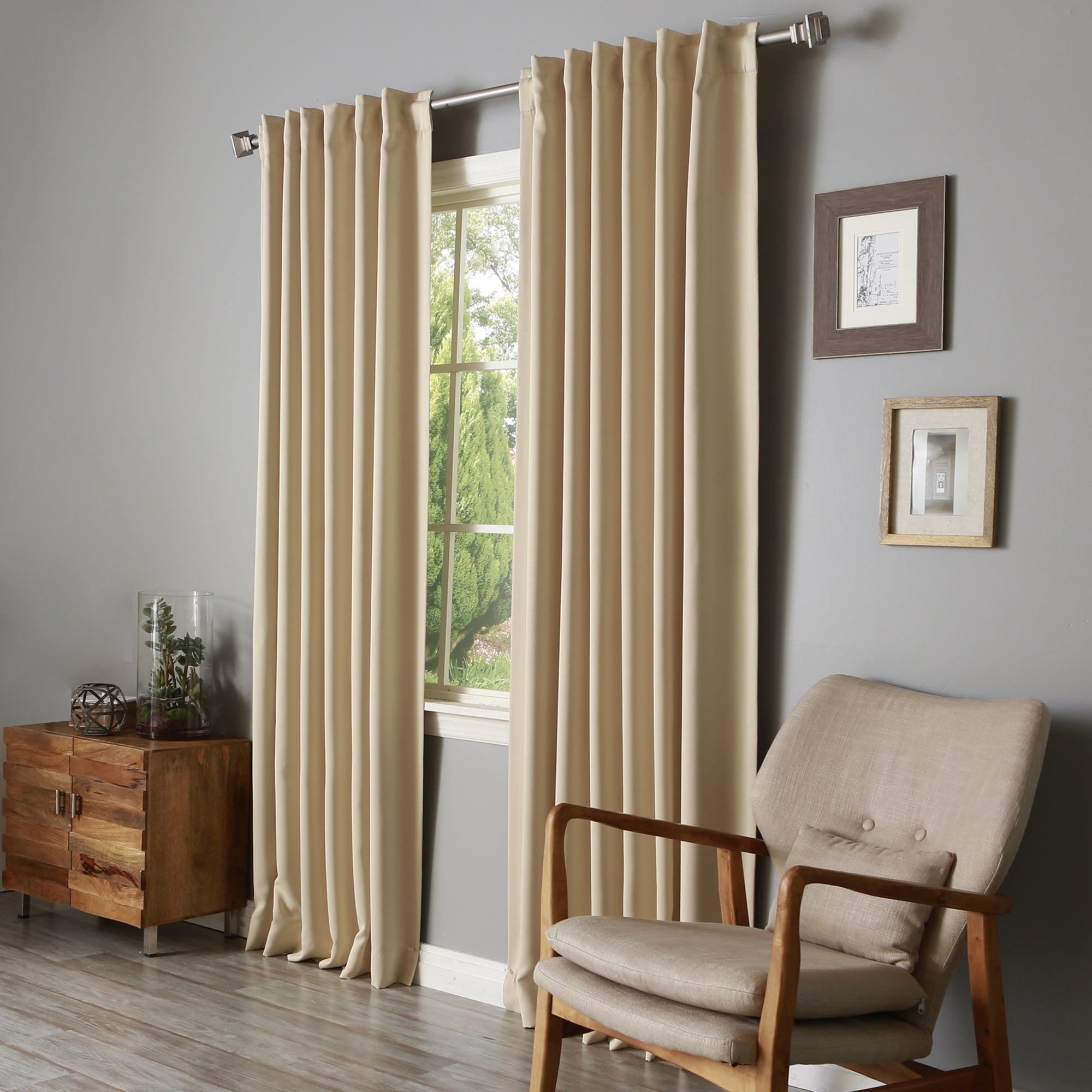 Aurora Home Solid Insulated Thermal Blackout Long Length Curtain Panel Pair For Solid Insulated Thermal Blackout Long Length Curtain Panel Pairs (View 4 of 30)