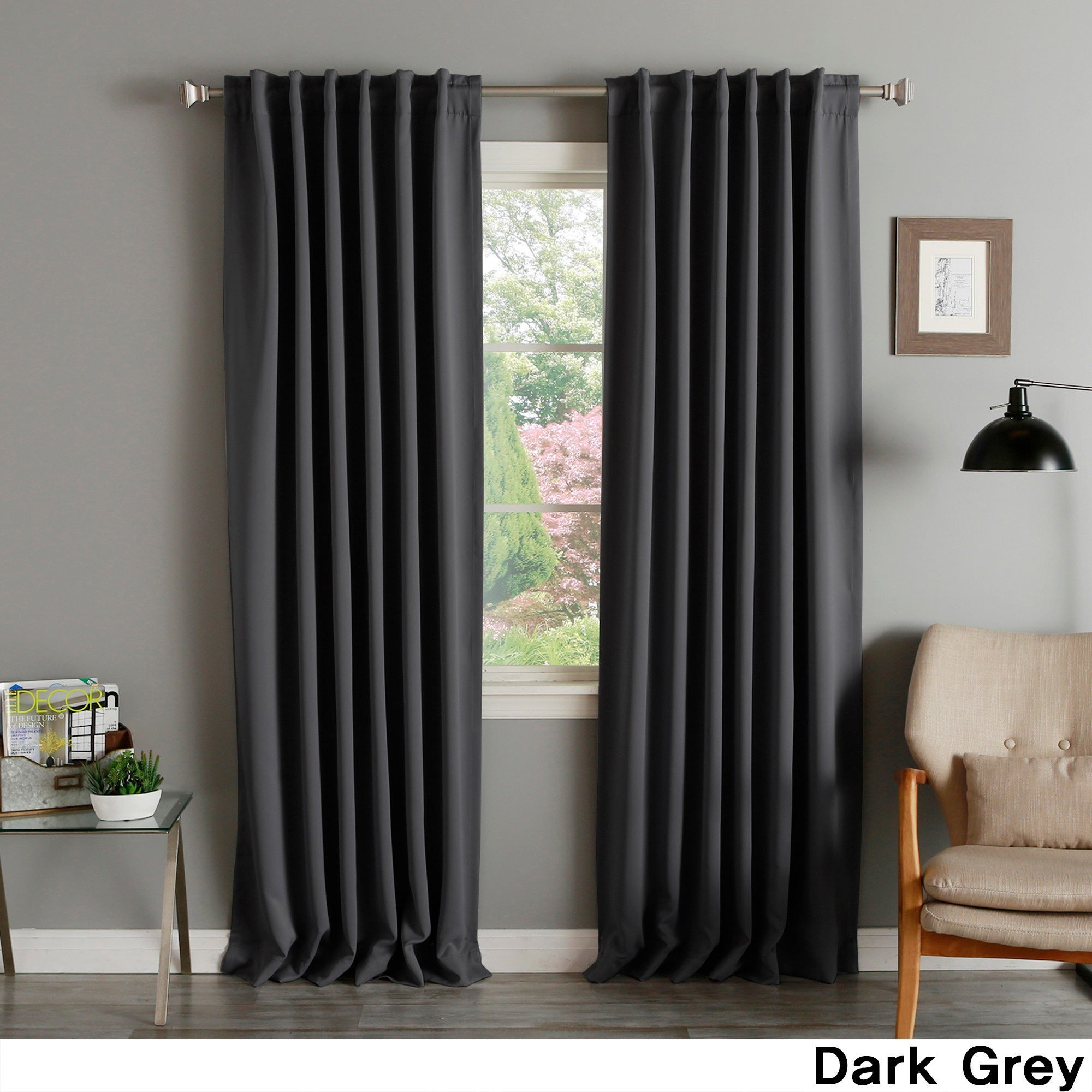 Aurora Home Solid Thermal Insulated 108 Inch Blackout Curtain Panel Pair – 52 X 108 Inside Solid Insulated Thermal Blackout Curtain Panel Pairs (View 5 of 30)