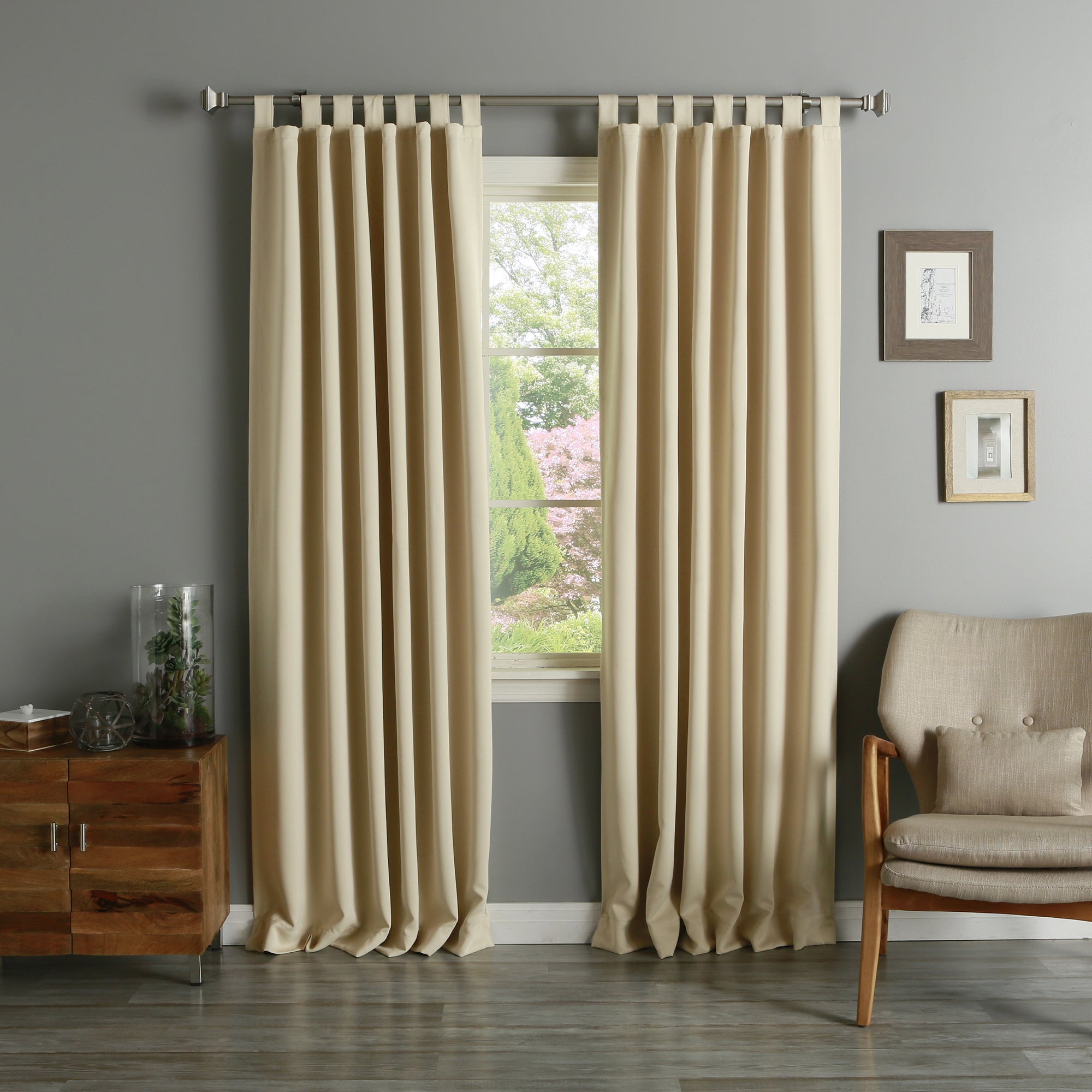 Aurora Home Tab Top Thermal Insulated 95 Inch Blackout Curtain Panel Pair – 52 X 95 Pertaining To Insulated Thermal Blackout Curtain Panel Pairs (View 7 of 20)