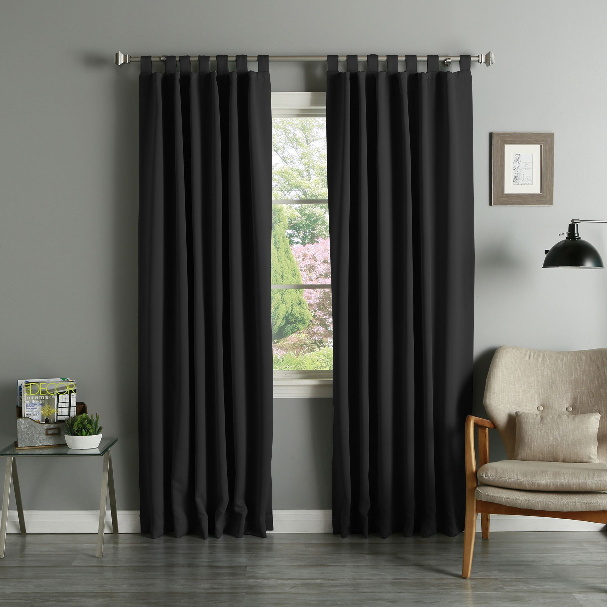 Aurora Home Tab Top Thermal Insulated 95 Inch Blackout Pertaining To Solid Thermal Insulated Blackout Curtain Panel Pairs (View 14 of 30)