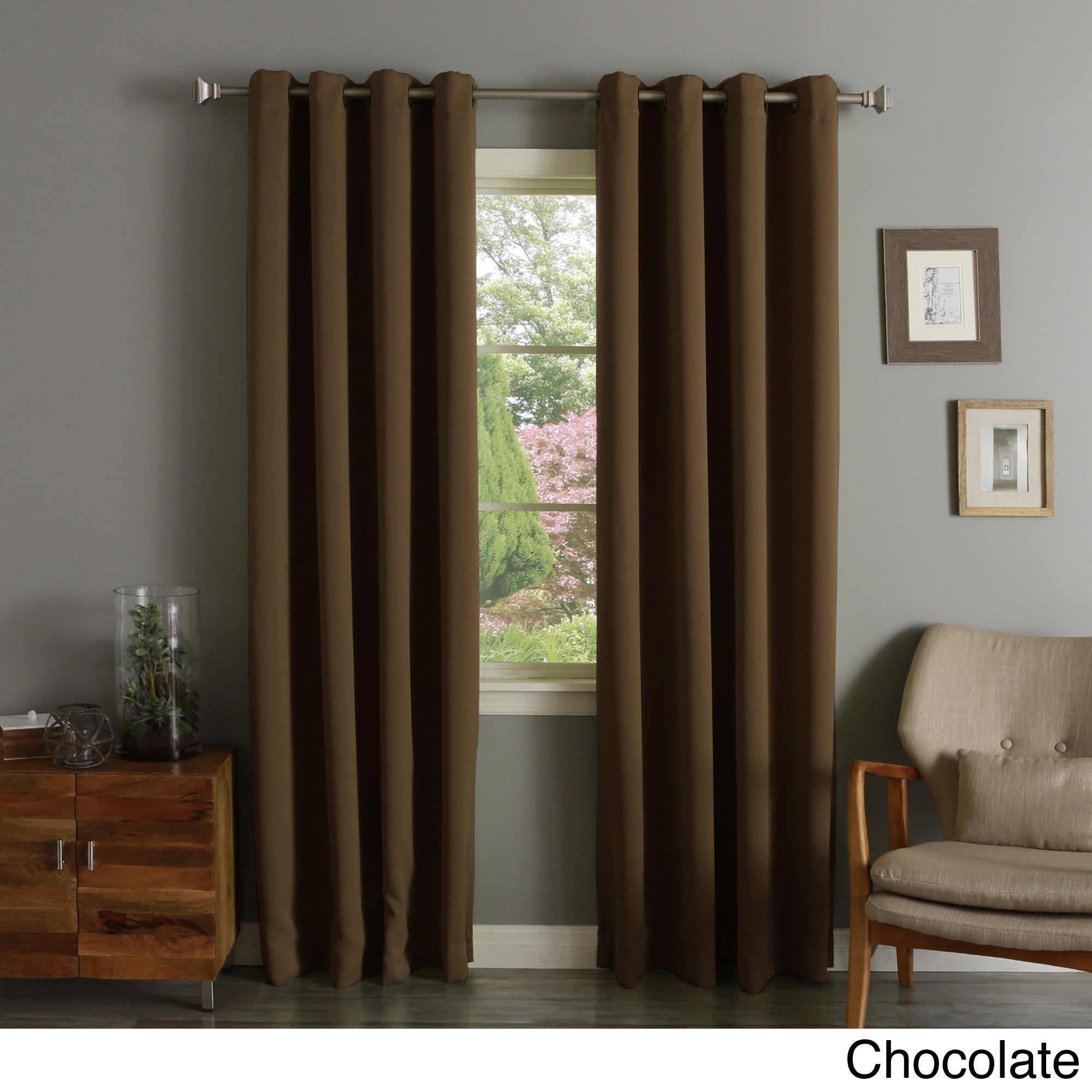 """Aurora Home Thermal Insulated Blackout 90 Inch Curtain Panel Pair – 52""""w X 90""""l Regarding Thermal Insulated Blackout Curtain Panel Pairs (View 7 of 30)"""