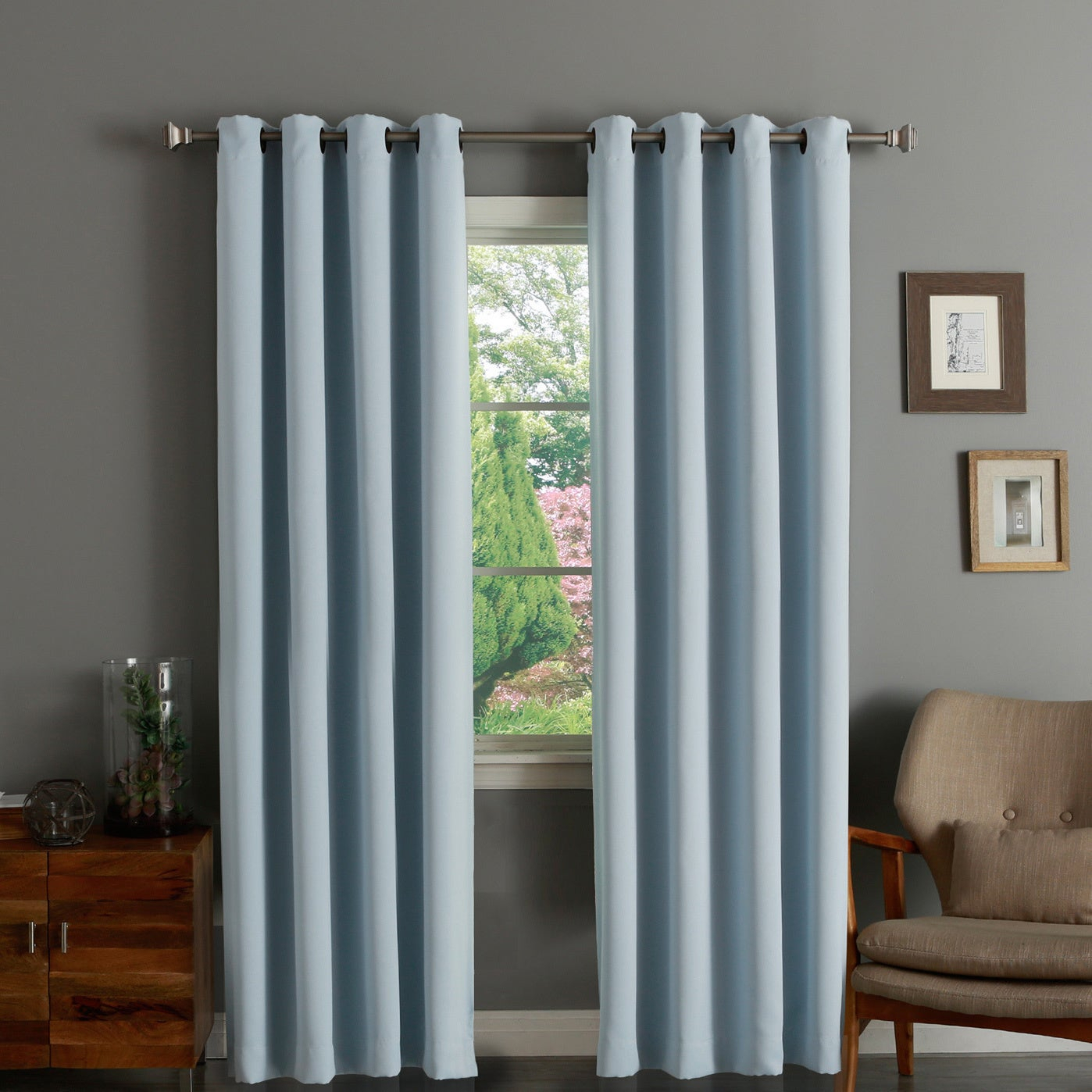 Aurora Home Thermal Insulated Blackout Grommet Top 84 Inch Curtain Panel Pair – 52 X 84 For Grommet Top Thermal Insulated Blackout Curtain Panel Pairs (View 11 of 20)