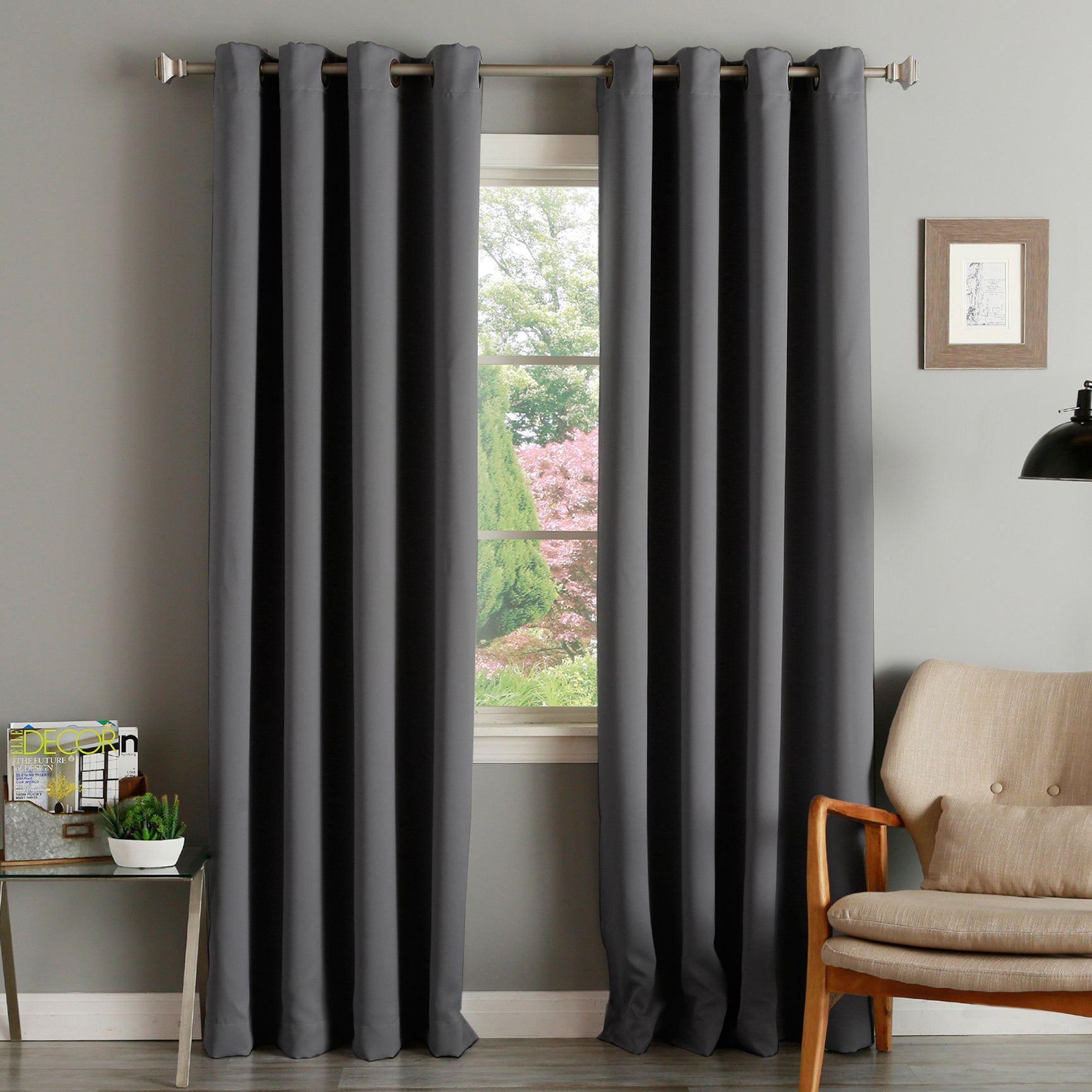 Aurora Home Thermal Insulated Blackout Grommet Top 84 Inch Curtain Panel Pair – 52 X 84 Throughout Grommet Top Thermal Insulated Blackout Curtain Panel Pairs (View 2 of 20)