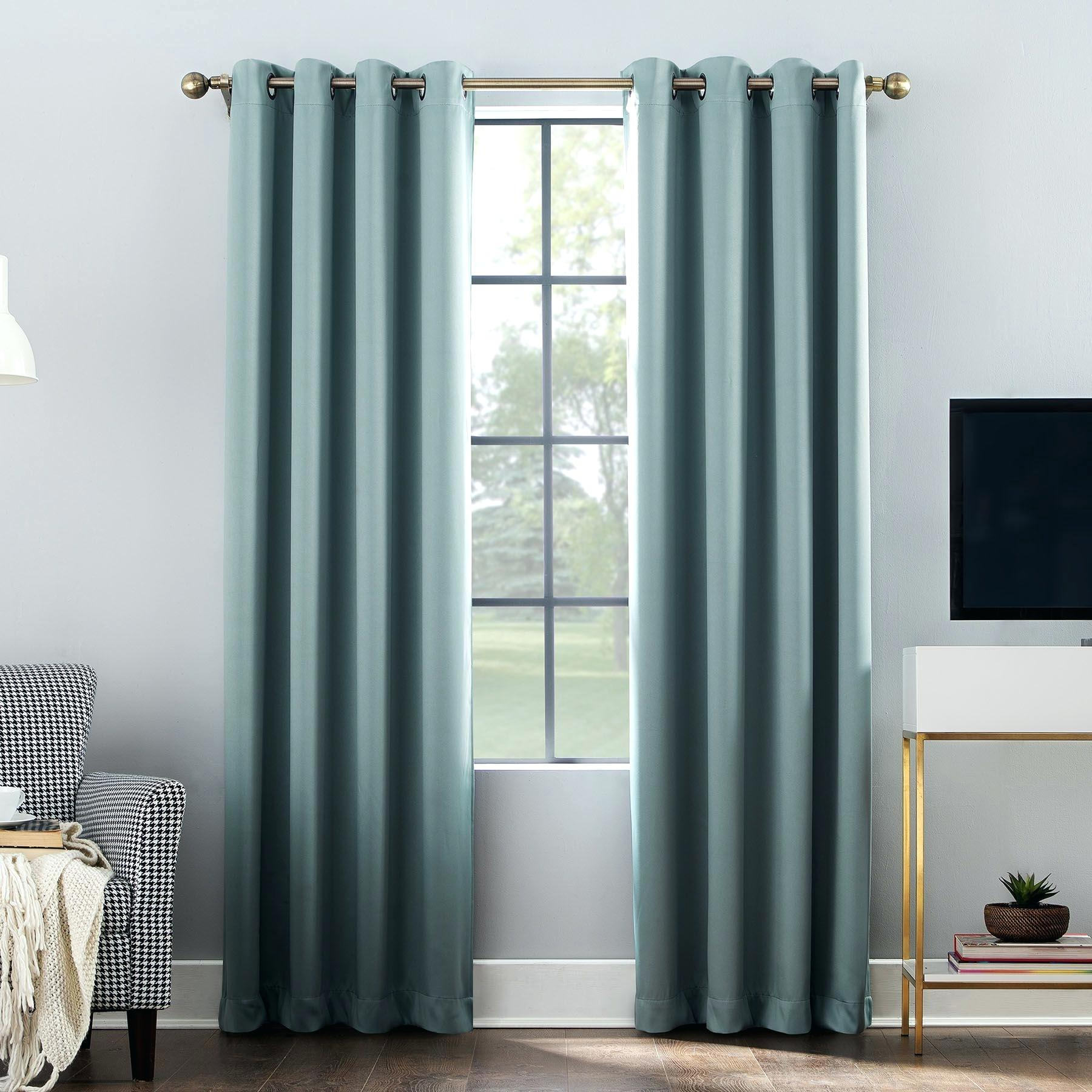 Aurora Home Thermal Insulated Blackout Grommet Top Curtain In Thermal Insulated Blackout Grommet Top Curtain Panel Pairs (View 19 of 30)