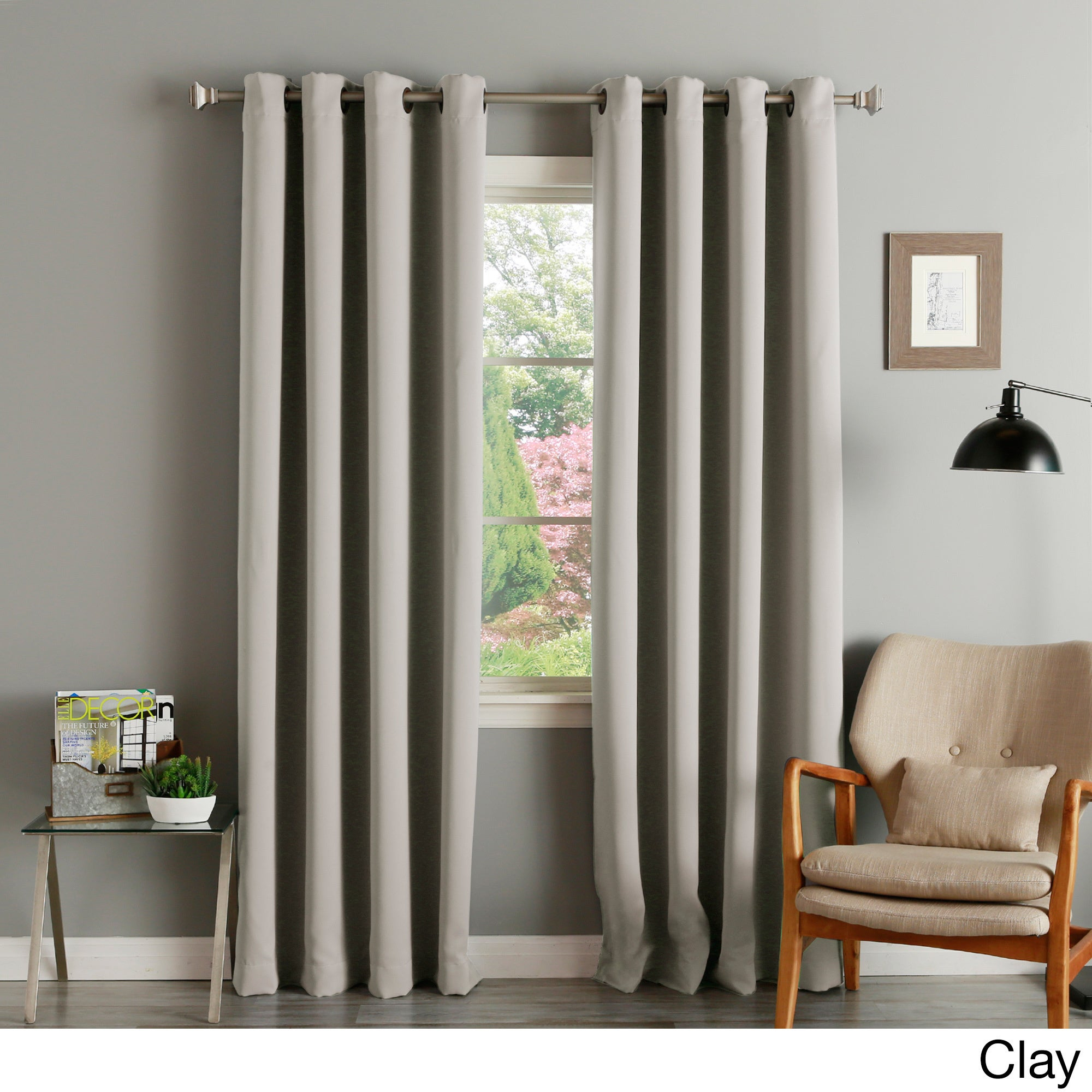 Aurora Home Thermal Insulated Blackout Grommet Top Curtain Panel Pair Within Solid Grommet Top Curtain Panel Pairs (View 17 of 30)