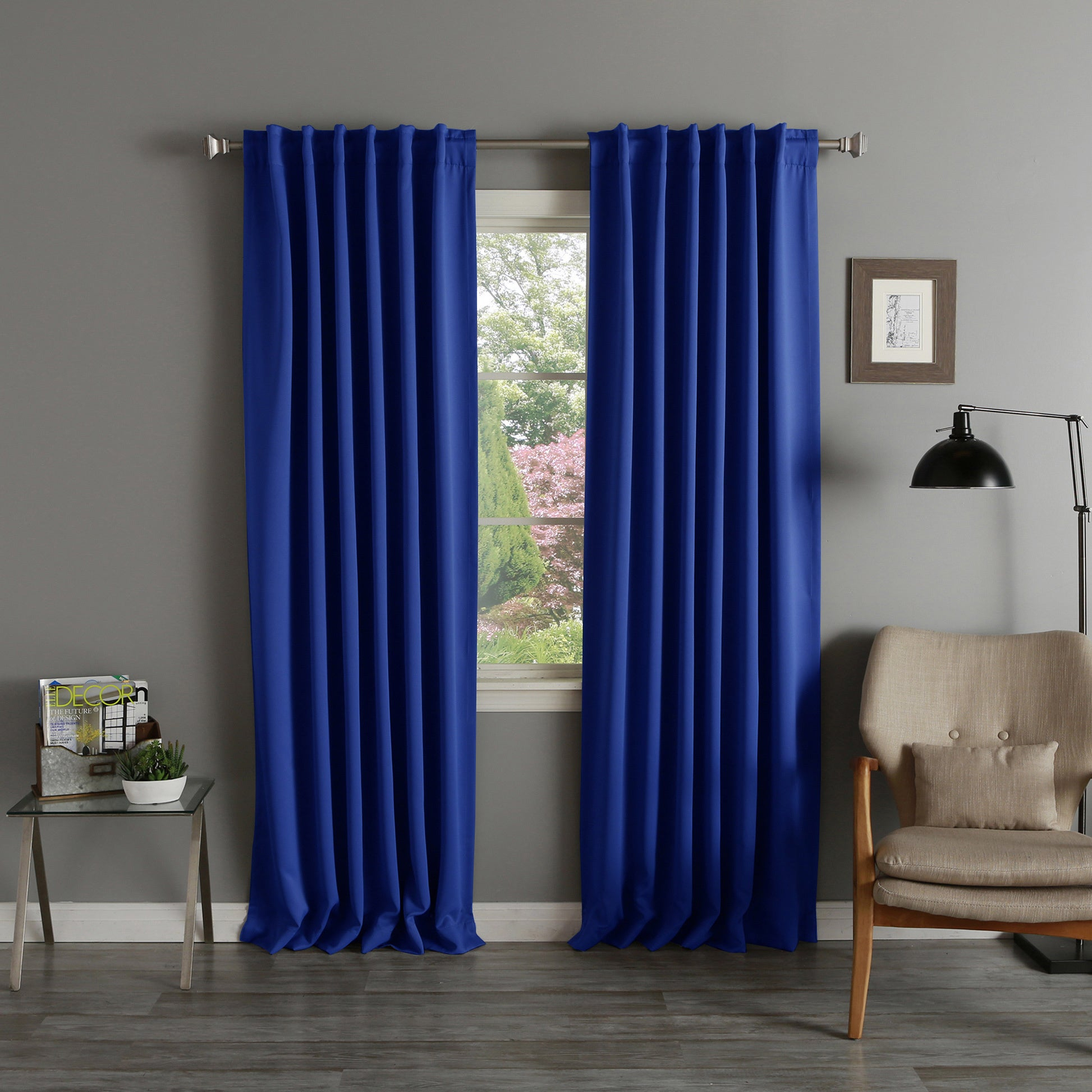 Aurora Home Thermal Rod Pocket 96 Inch Blackout Curtain Panel Pair – 52 X 96 Throughout Thermal Rod Pocket Blackout Curtain Panel Pairs (View 2 of 30)