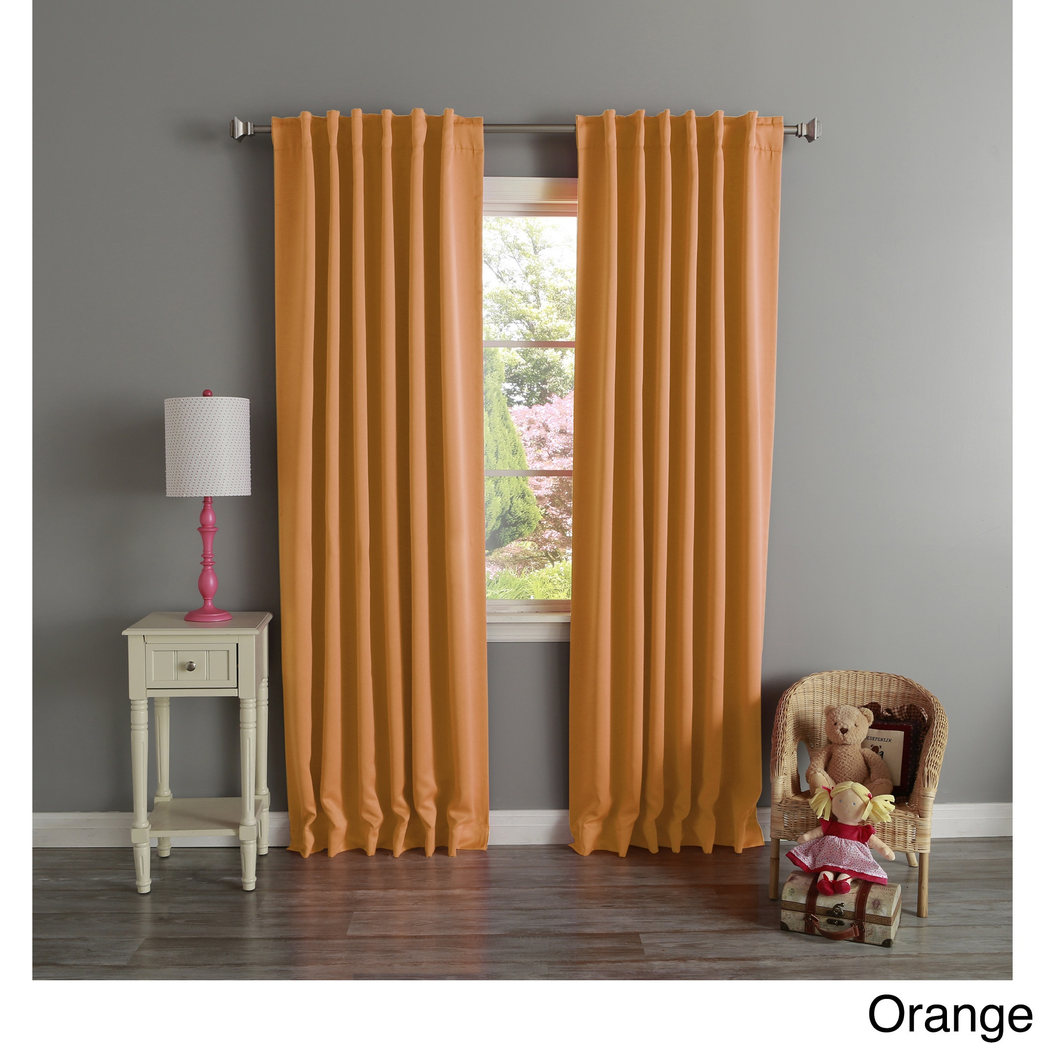 Aurora Home Thermal Rod Pocket 96 Inch Blackout Curtain Panel Pair Within Thermal Rod Pocket Blackout Curtain Panel Pairs (View 8 of 30)