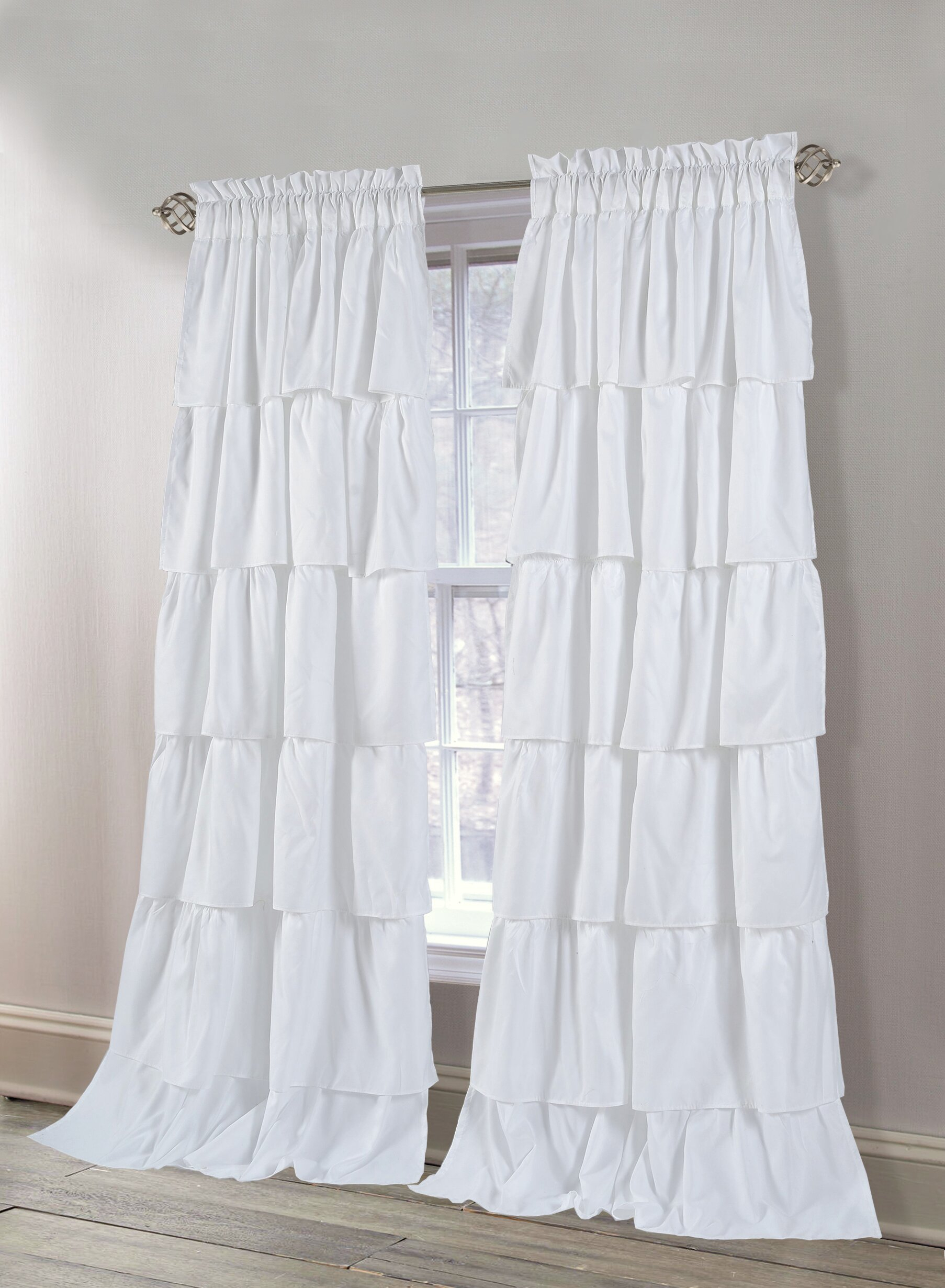 Azariah Solid Semi Sheer Rod Pocket Curtain Panels With Luxury Collection Cranston Sheer Curtain Panel Pairs (View 16 of 20)