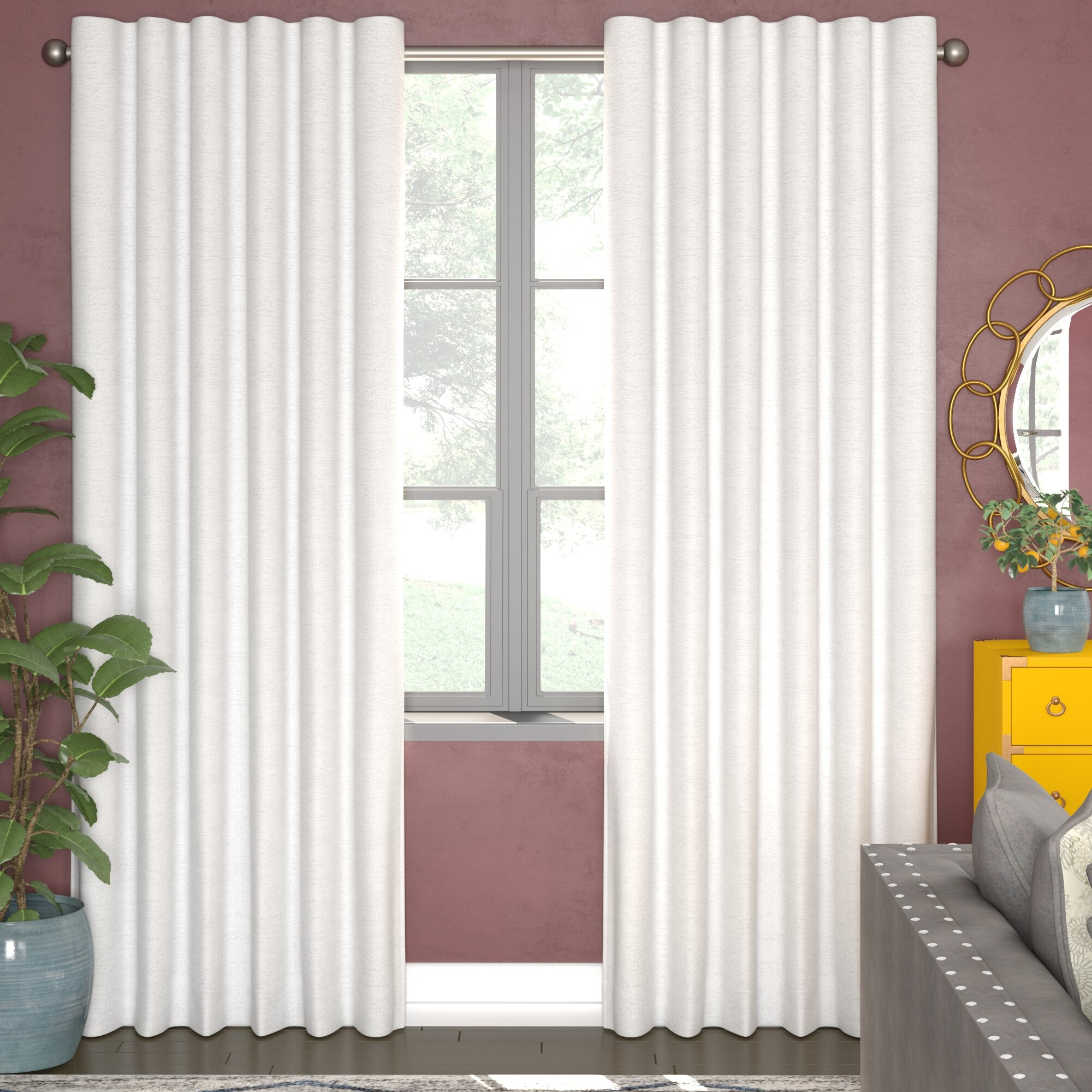 Bannerman Solid Thermal Rod Pocket Curtain Panels Throughout Rod Pocket Curtain Panels (View 16 of 20)