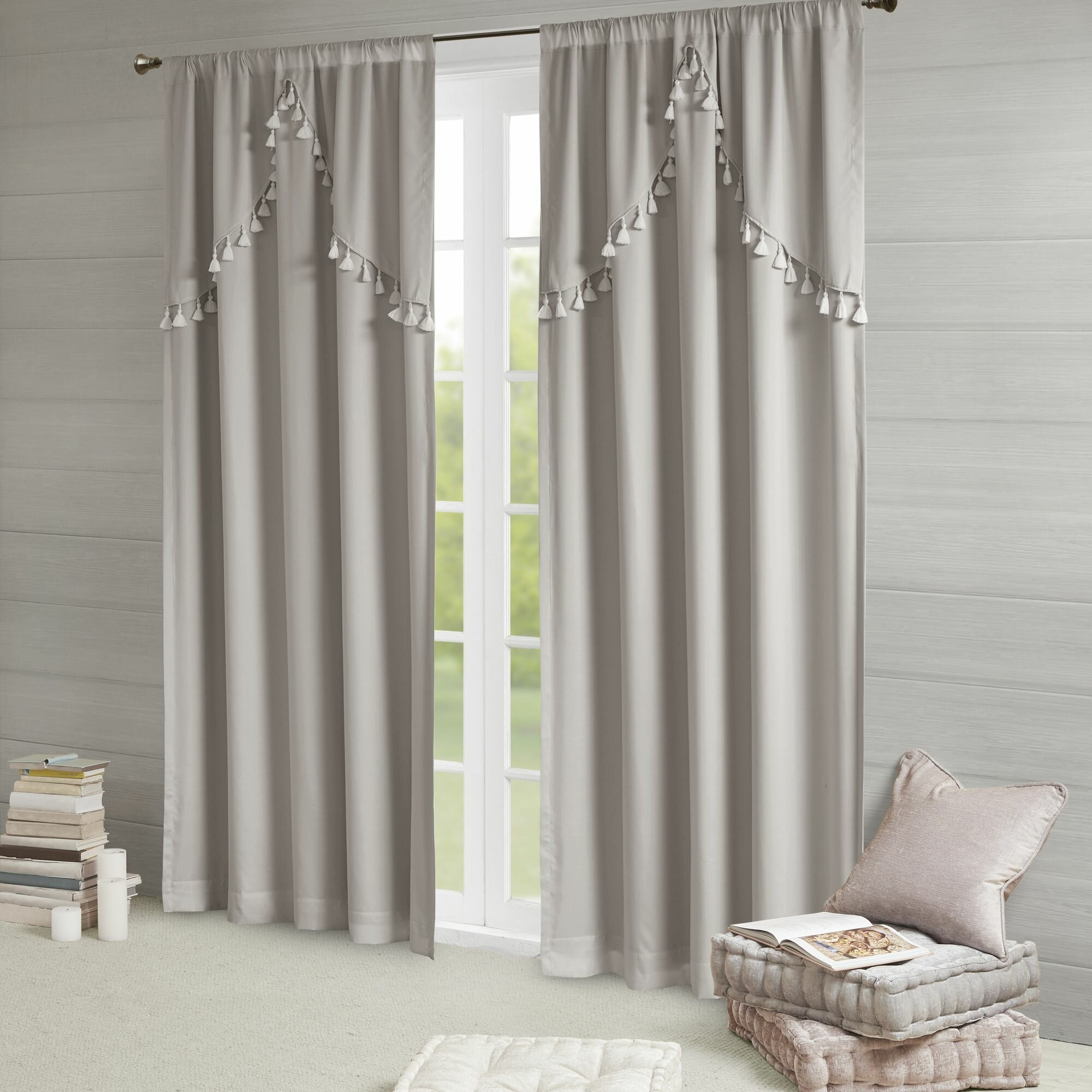 Barclay Solid Blackout Rod Pocket Single Curtain Panel Intended For Solid Cotton True Blackout Curtain Panels (View 17 of 30)