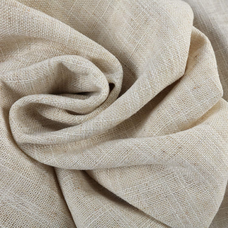 Barley Heavy Faux Linen Fabric regarding Heavy Faux Linen Single Curtain Panels (Image 1 of 20)