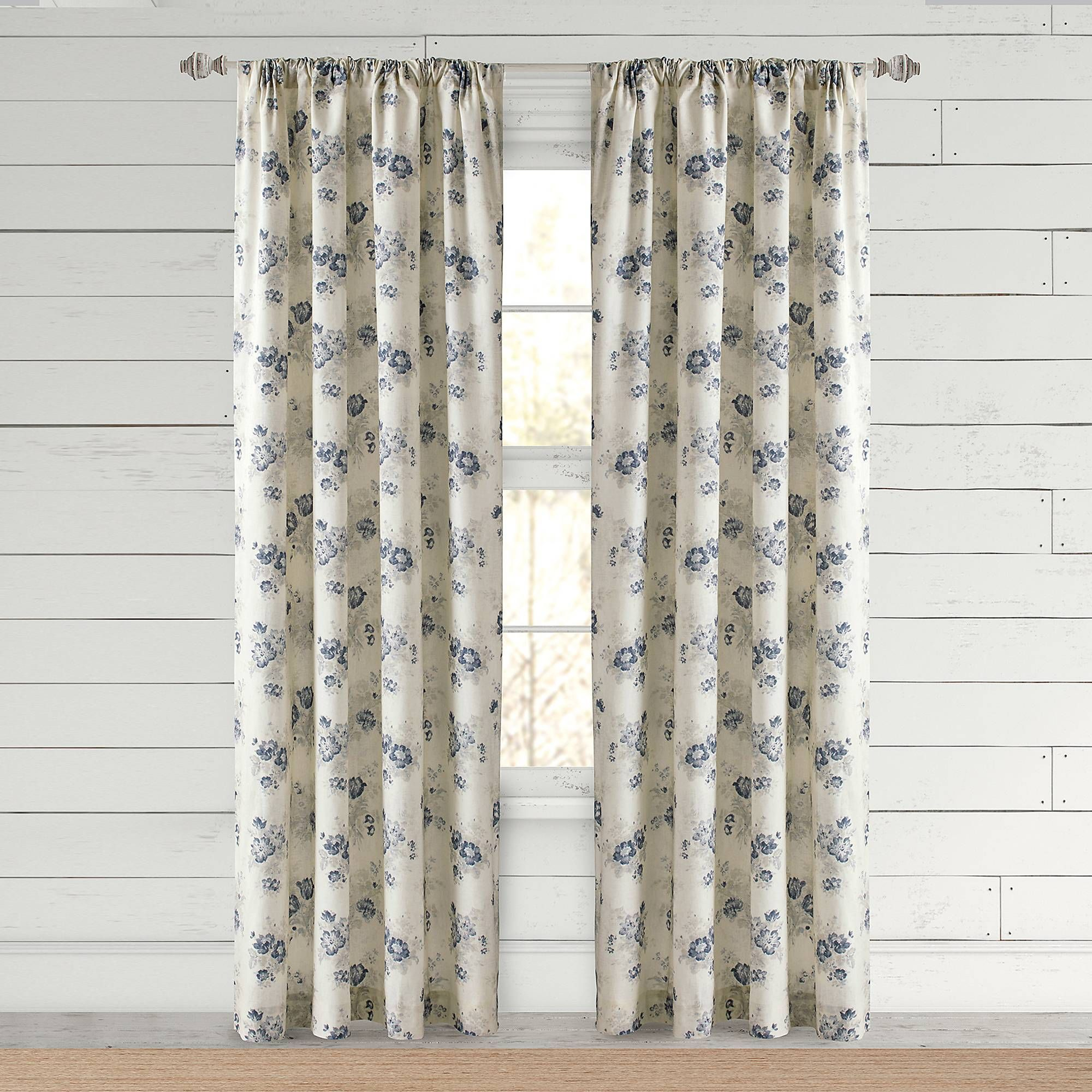 Bee & Willow™ Home Clearwell Rod Pocket Window Curtain Panel For Willow Rod Pocket Window Curtain Panels (View 3 of 30)