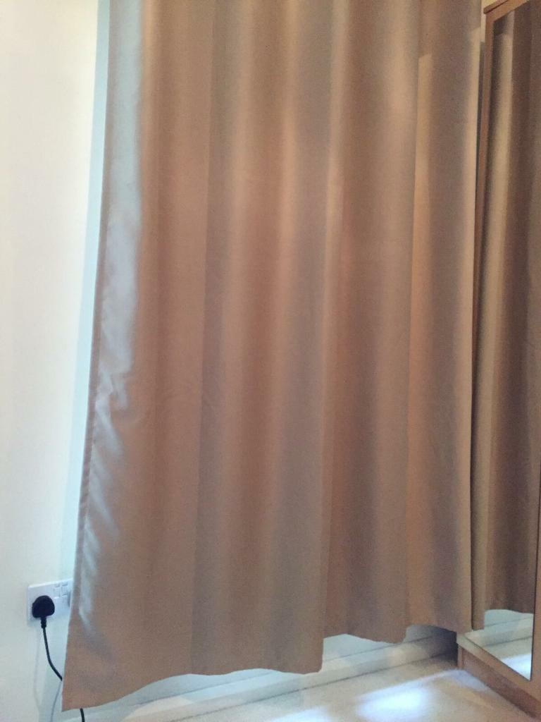 Beige Cream Blackout Curtains – Eyelet/ Ringtop 6ft 165cm Pertaining To London Blackout Panel Pair (View 15 of 20)