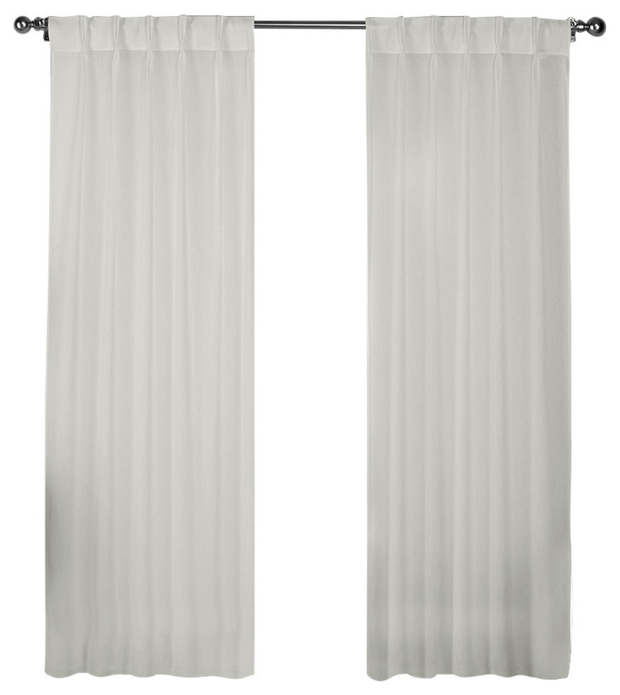 """Belgian Jacquard Sheer Window Curtain Panel, Set Of 2, Snowflake, 54""""x96"""" In Belgian Sheer Window Curtain Panel Pairs With Rod Pocket (View 20 of 20)"""